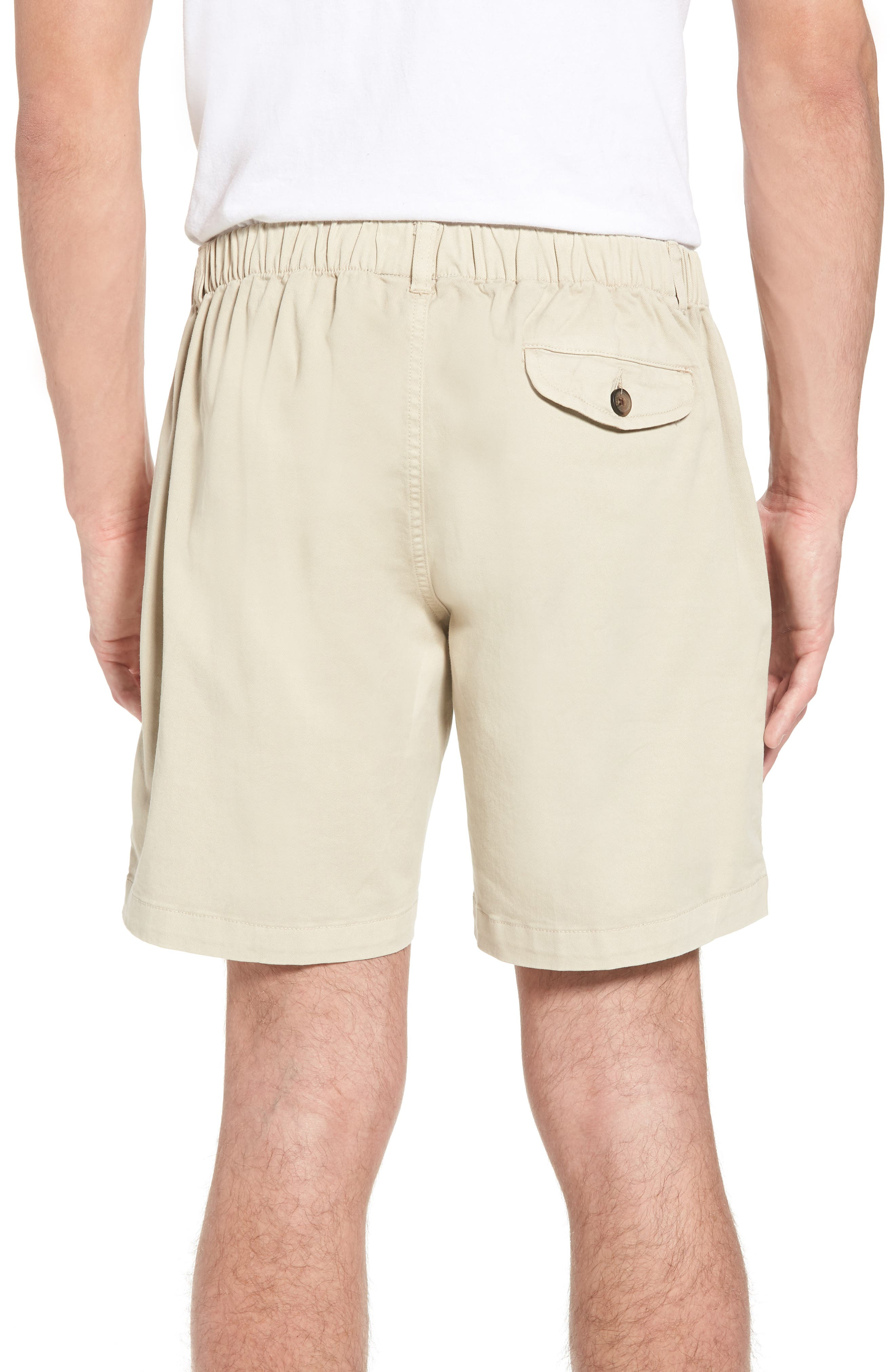 7in Snappers Elastic Waist Shorts,                             Alternate thumbnail 2, color,                             STONE