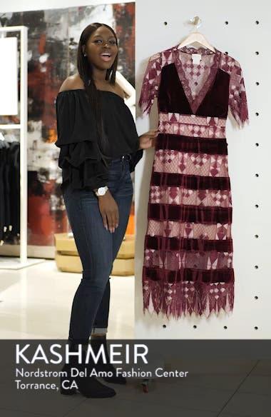 Aria Zulu Lace & Velvet Midi Dress, sales video thumbnail