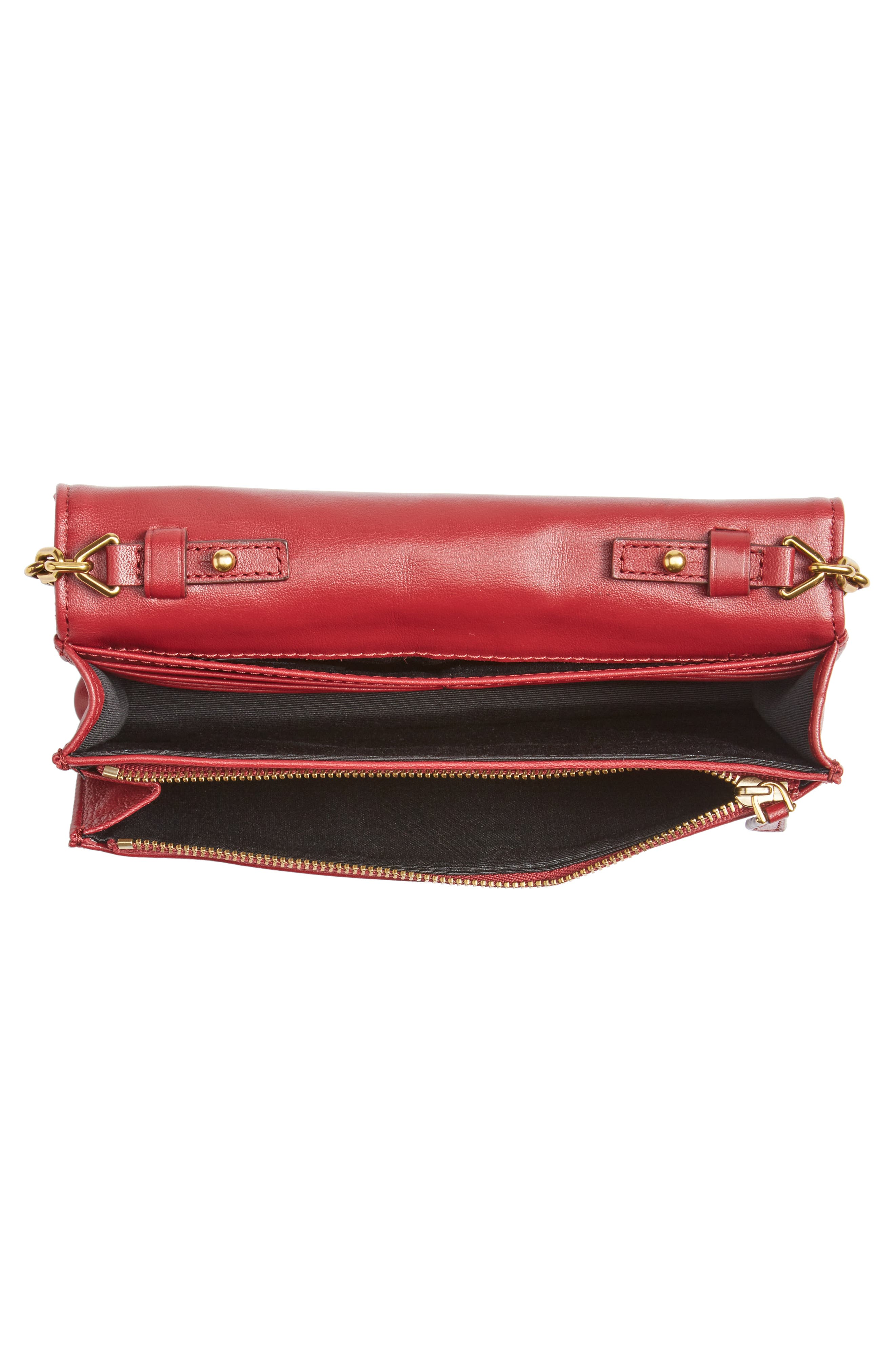 Quilted Leather Wallet on a Chain,                             Alternate thumbnail 4, color,                             930