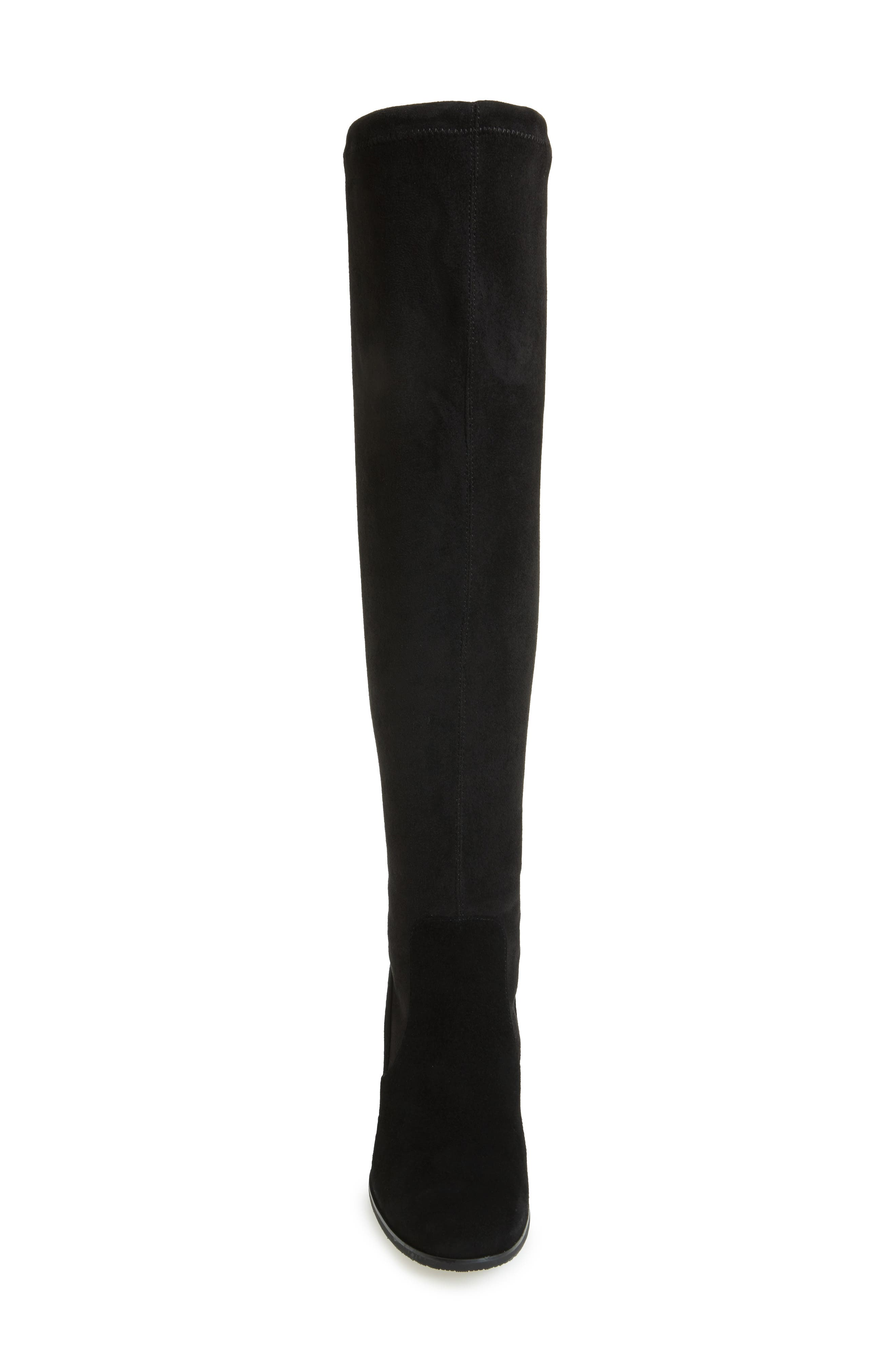 Kali Waterproof Over the Knee Boot,                             Alternate thumbnail 3, color,                             BLACK SUEDE