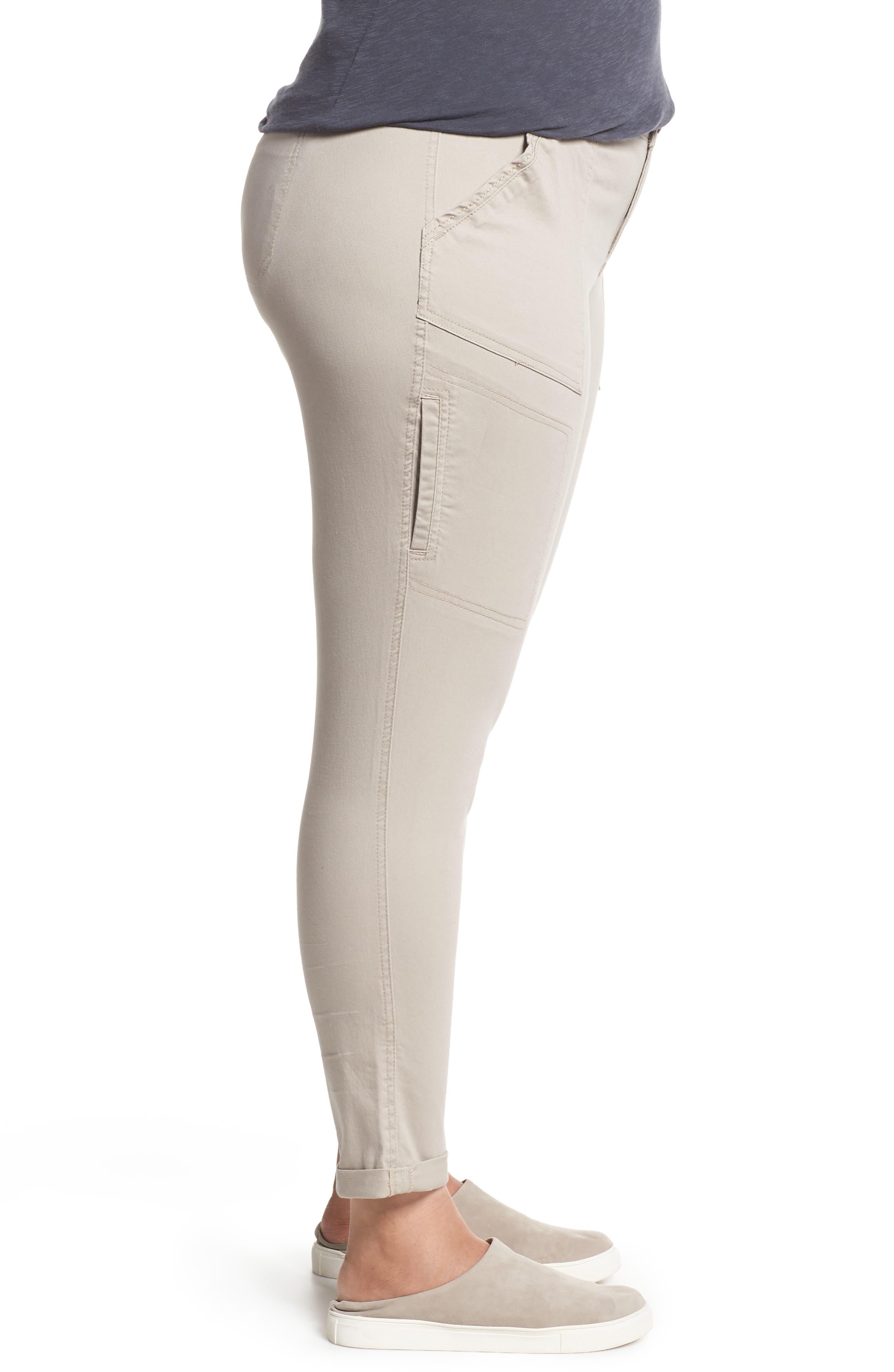 Flex-ellent Stretch Cotton Cargo Pants,                             Alternate thumbnail 3, color,                             FLAX