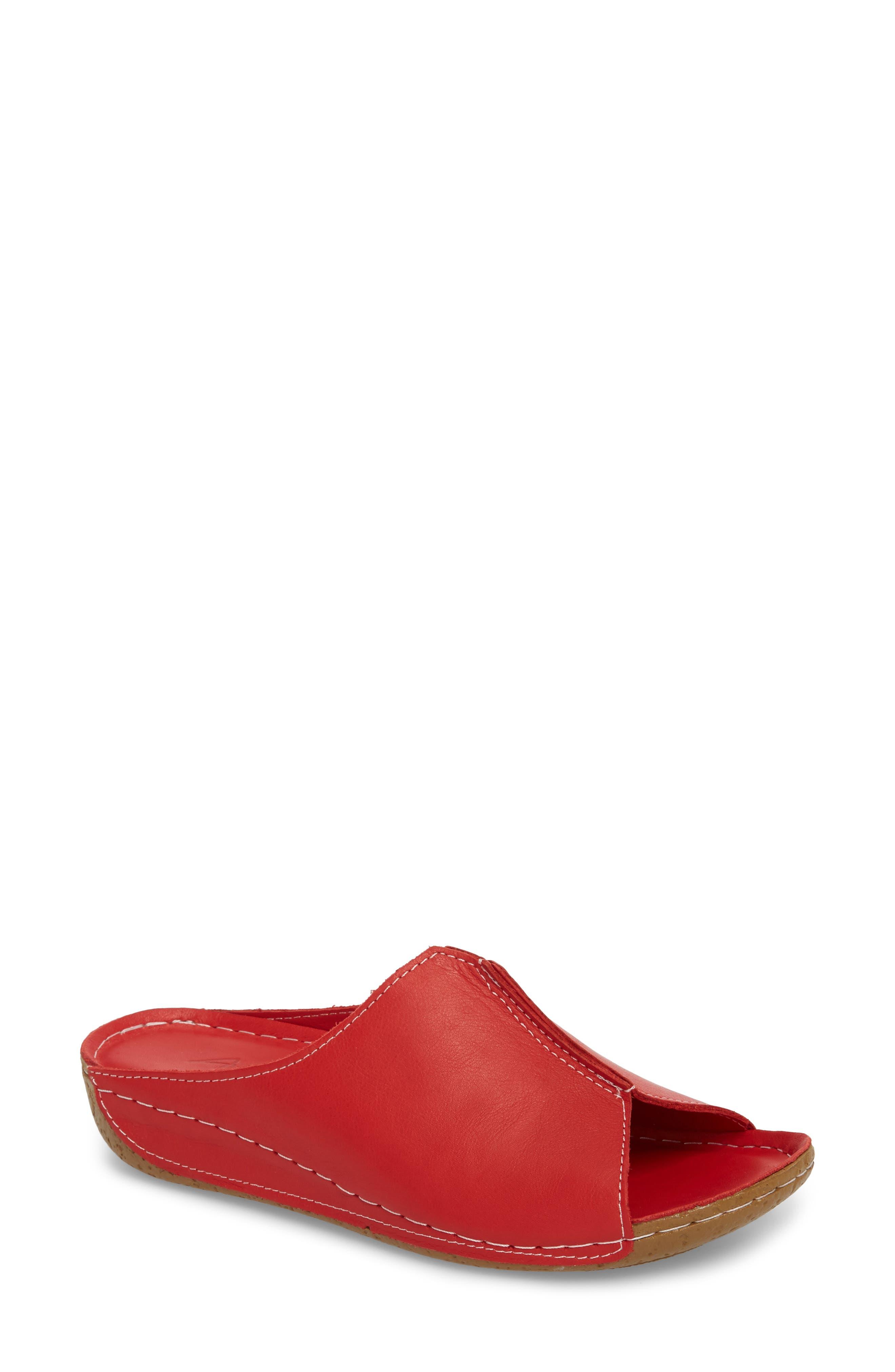 Sheridan Mia Alexa 3 Slide Sandal Red