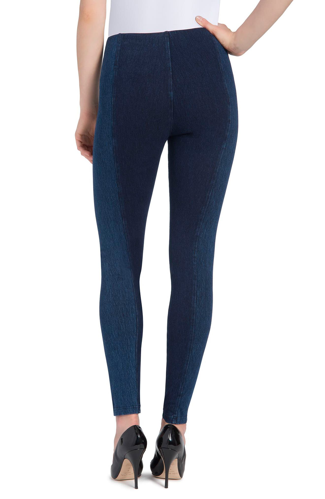 Marley Denim Leggings,                             Alternate thumbnail 4, color,