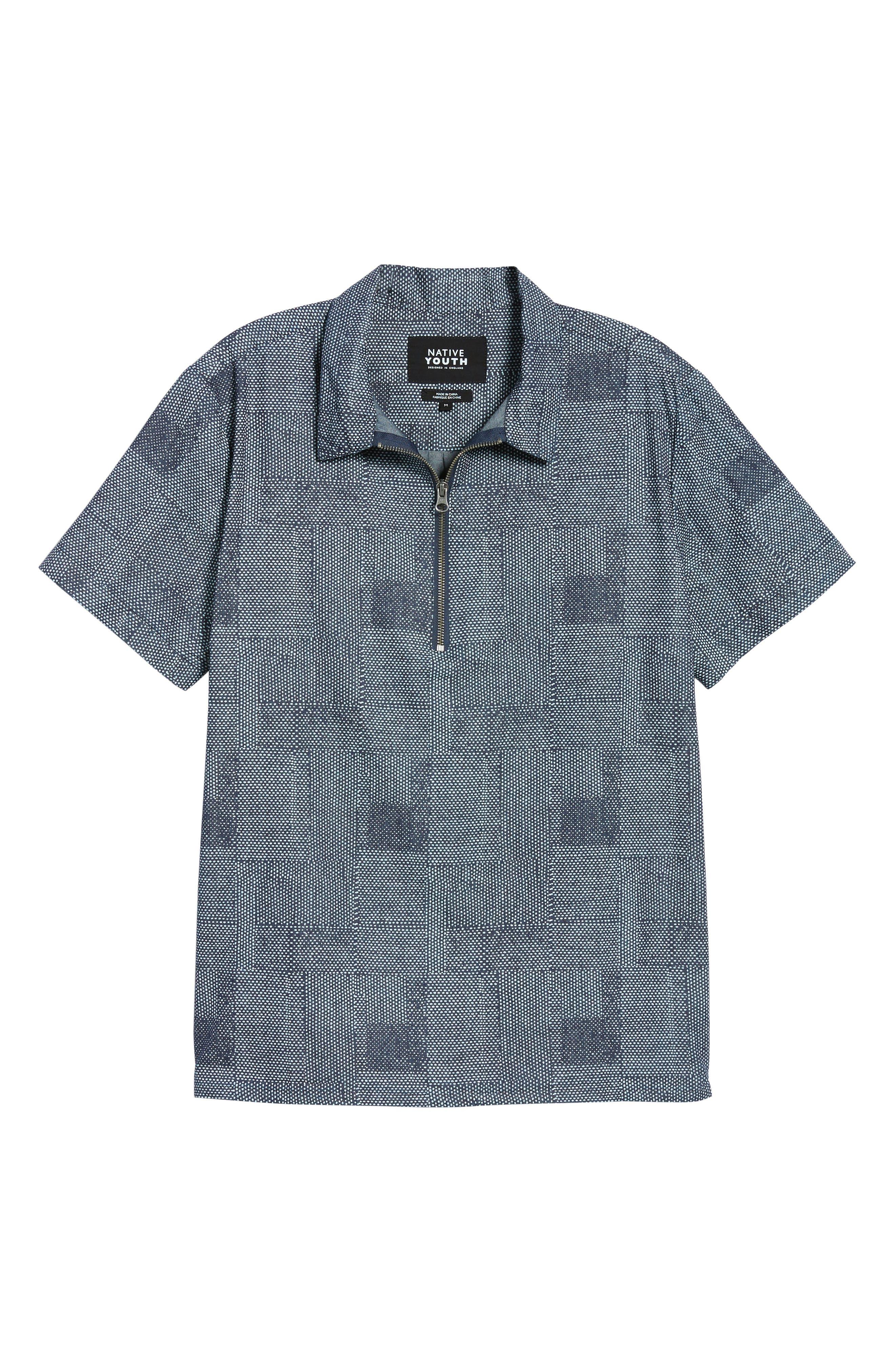 Dotpatch Woven Shirt,                             Alternate thumbnail 6, color,                             INDIGO