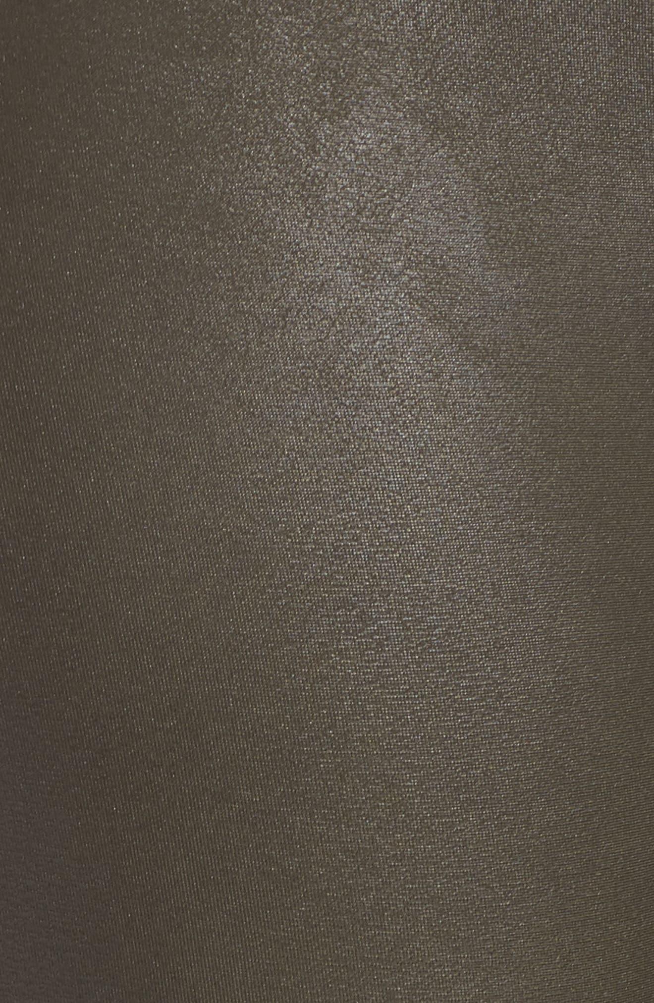 Faux Leather Leggings,                             Alternate thumbnail 5, color,                             DEEP OLIVE