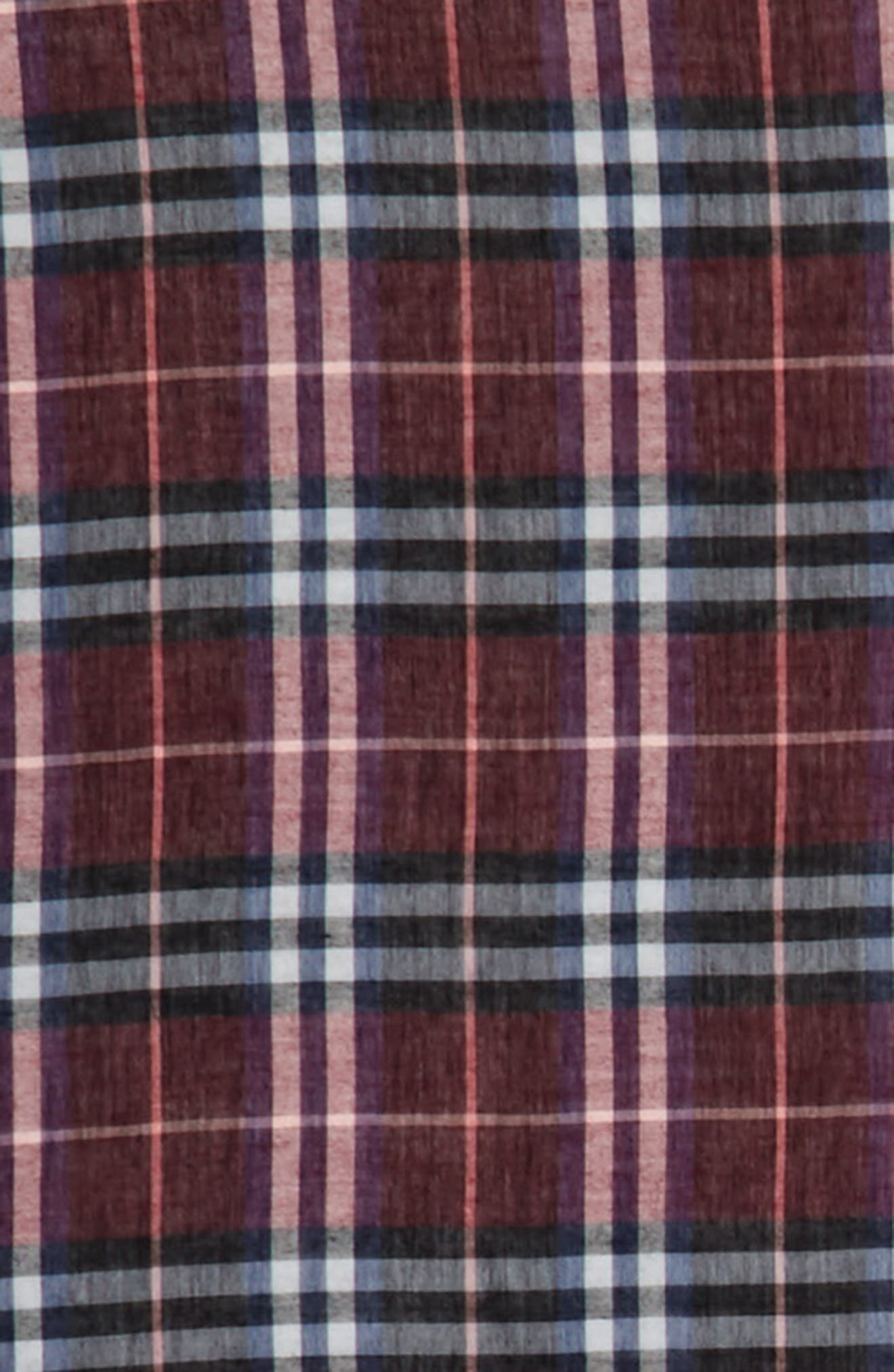 Castleford Check Wool & Modal Scarf,                             Alternate thumbnail 3, color,                             602