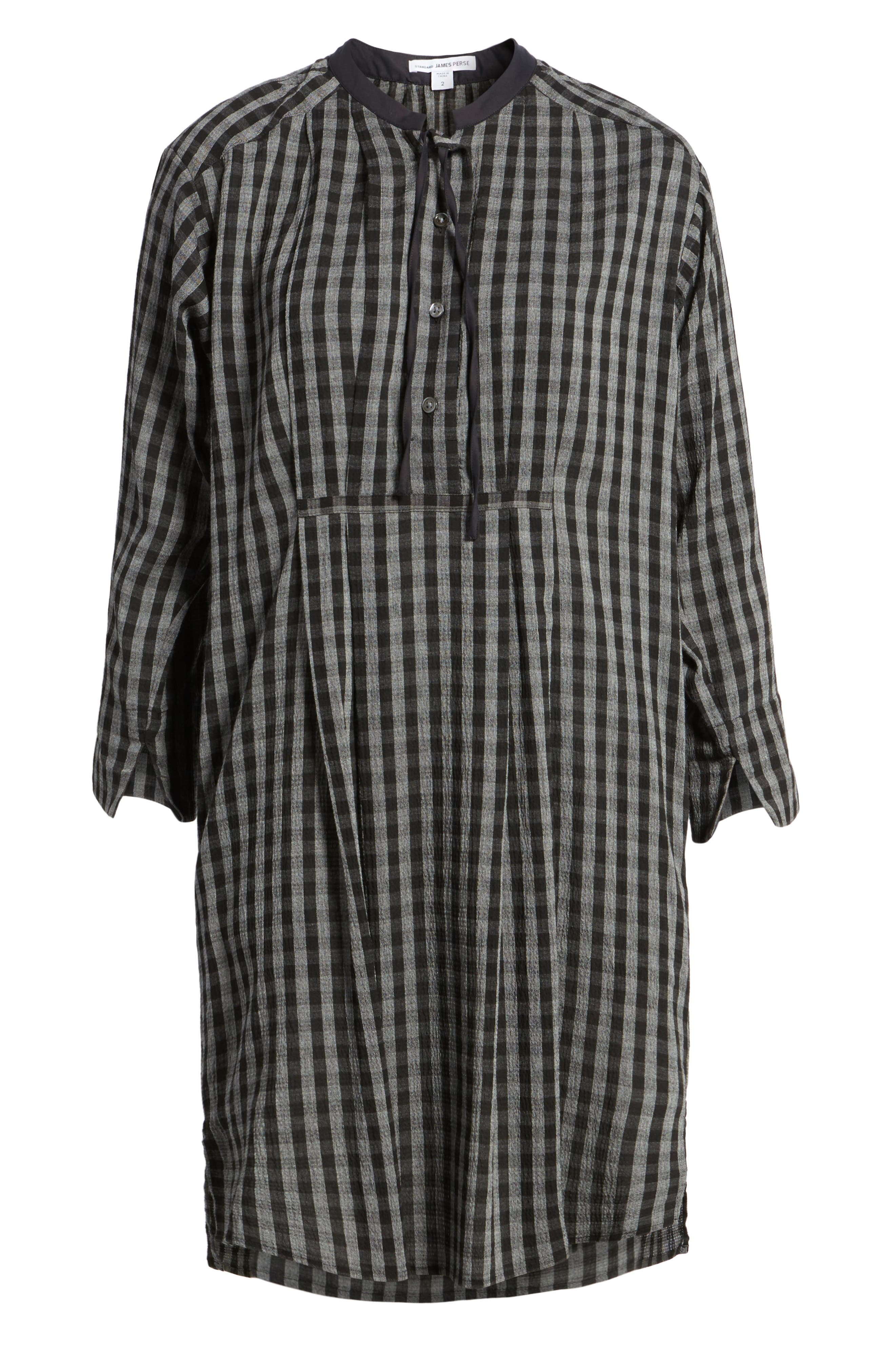 Check Shirtdress,                             Alternate thumbnail 6, color,                             002