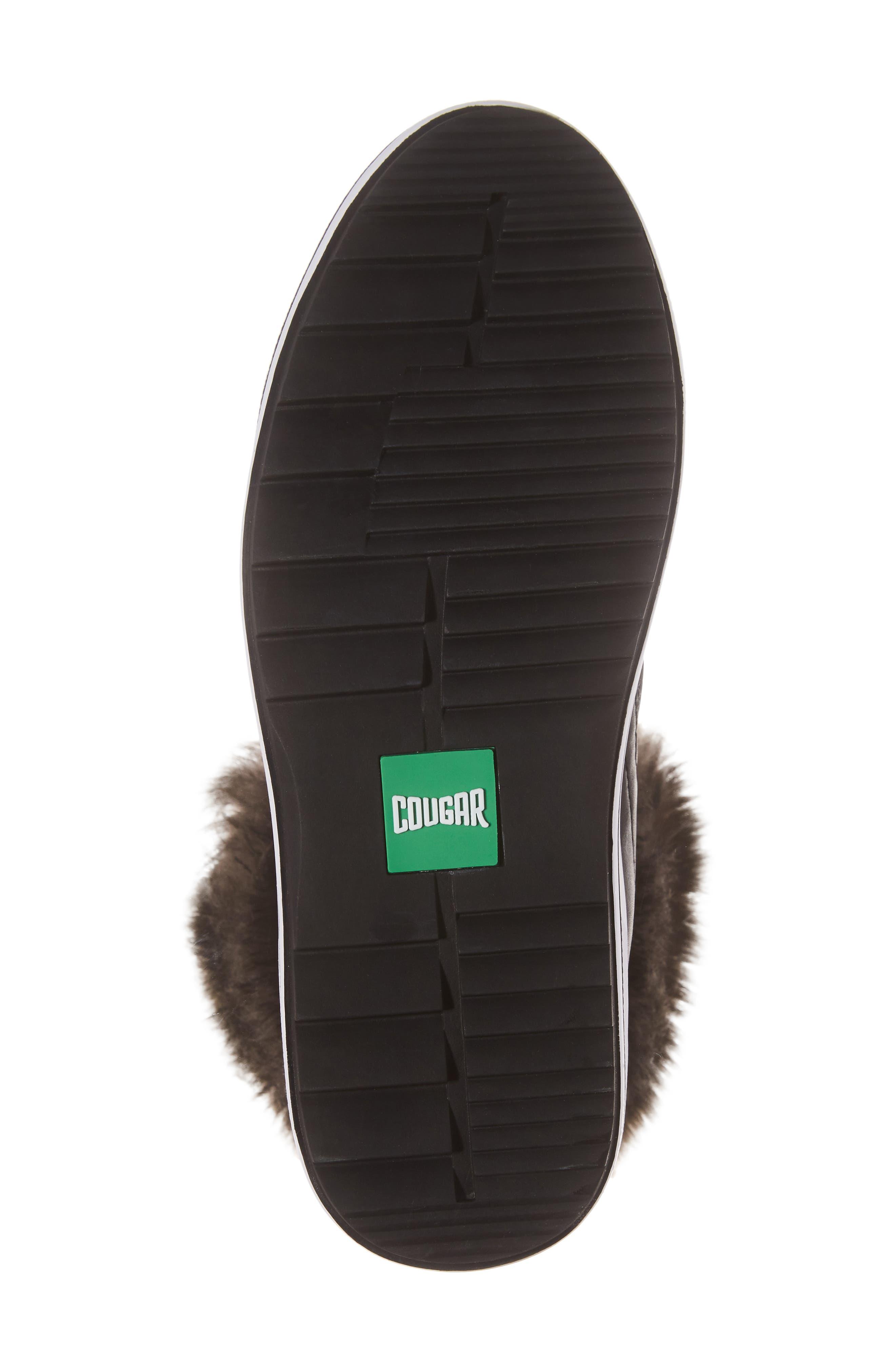 Viper Waterproof Snow Boot with Faux Fur Trim,                             Alternate thumbnail 6, color,                             BLACK