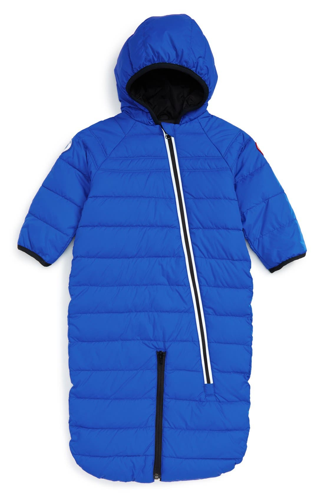 'Pup' Water Resistant Hooded Down Bunting,                         Main,                         color, ROYAL BLUE