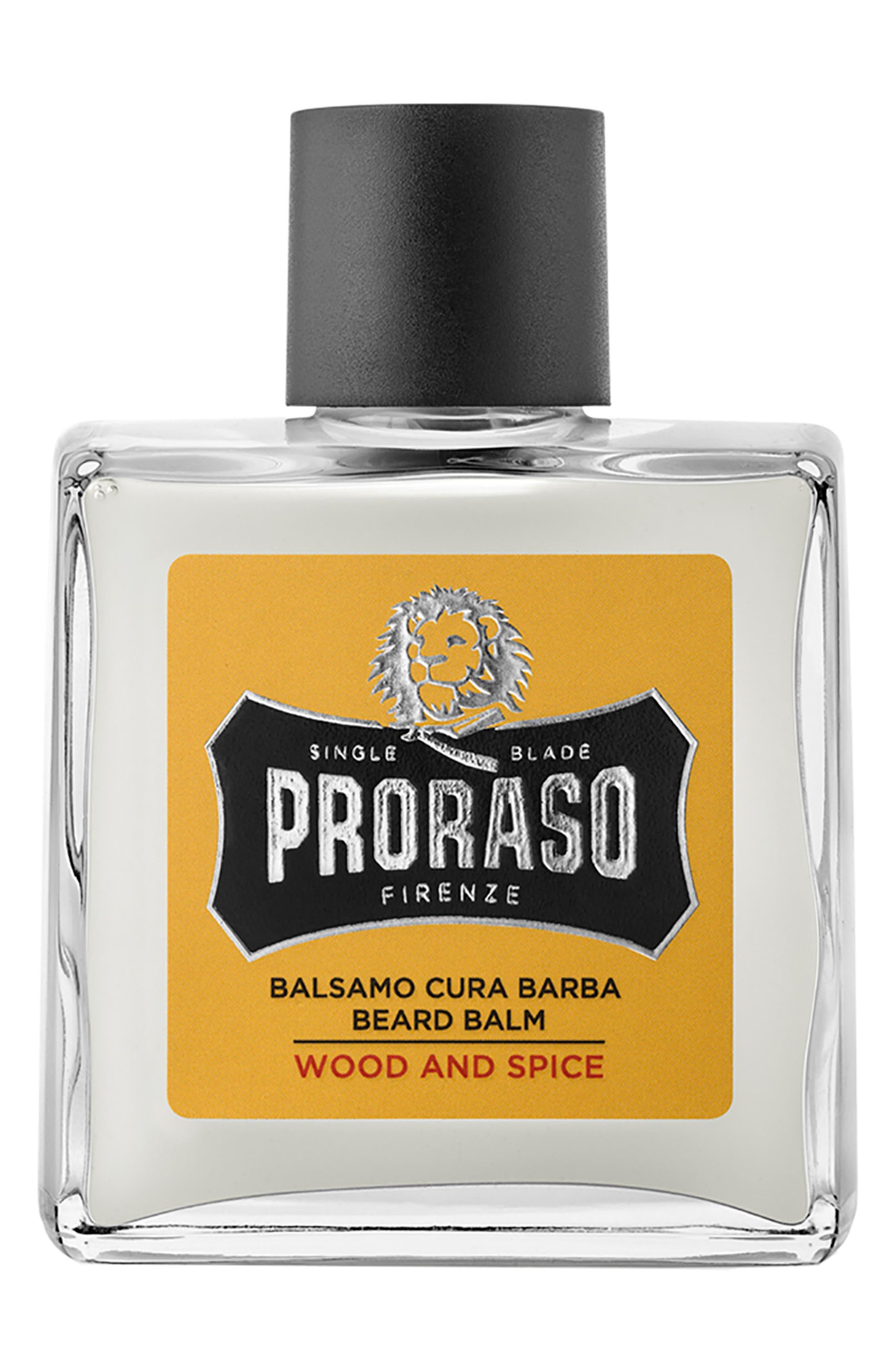 Men's Grooming Wood and Spice Beard Balm,                             Main thumbnail 1, color,                             NO COLOR