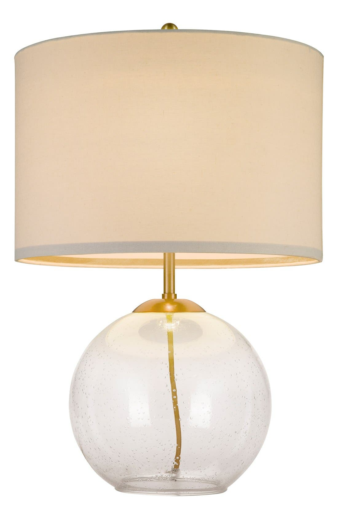 Seeded Glass Table Lamp,                             Main thumbnail 1, color,                             650