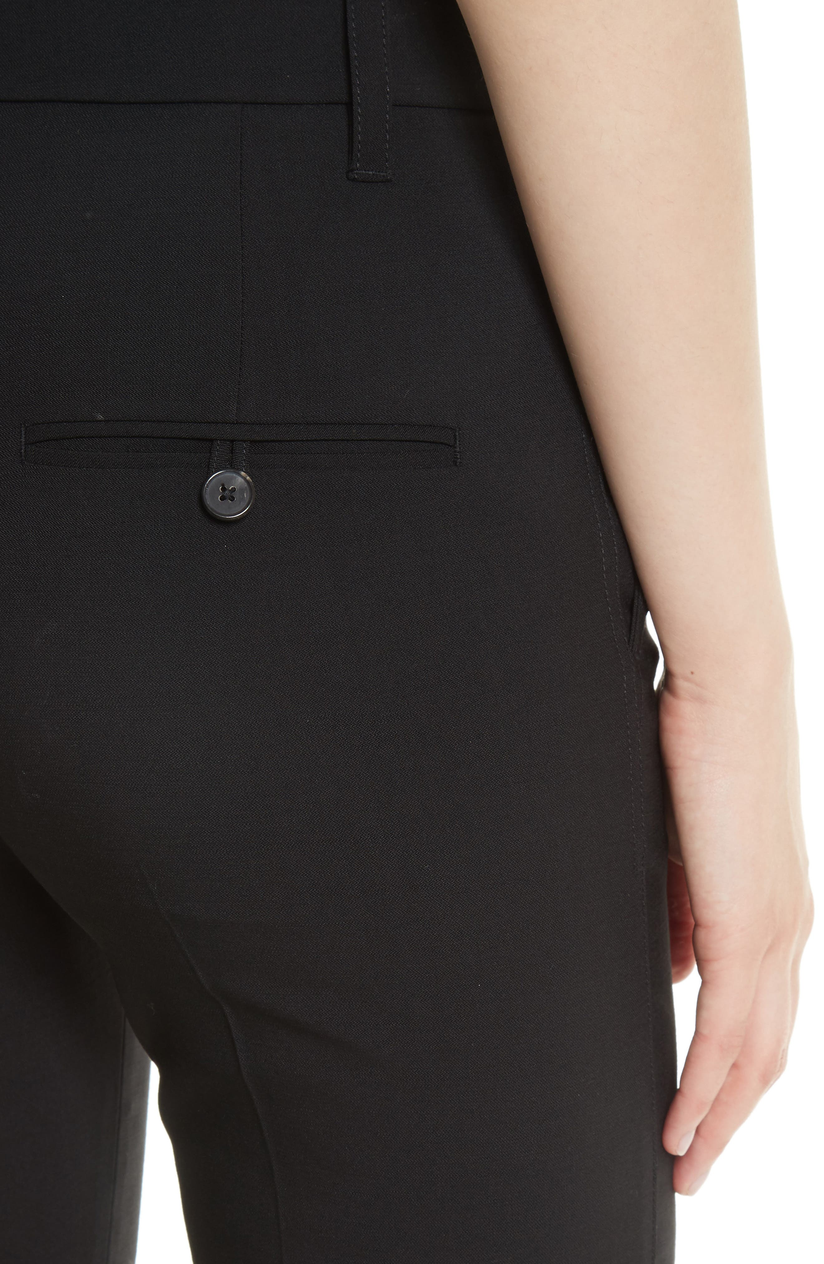 VINCE,                             Tapered Ankle Trousers,                             Alternate thumbnail 6, color,                             BLACK