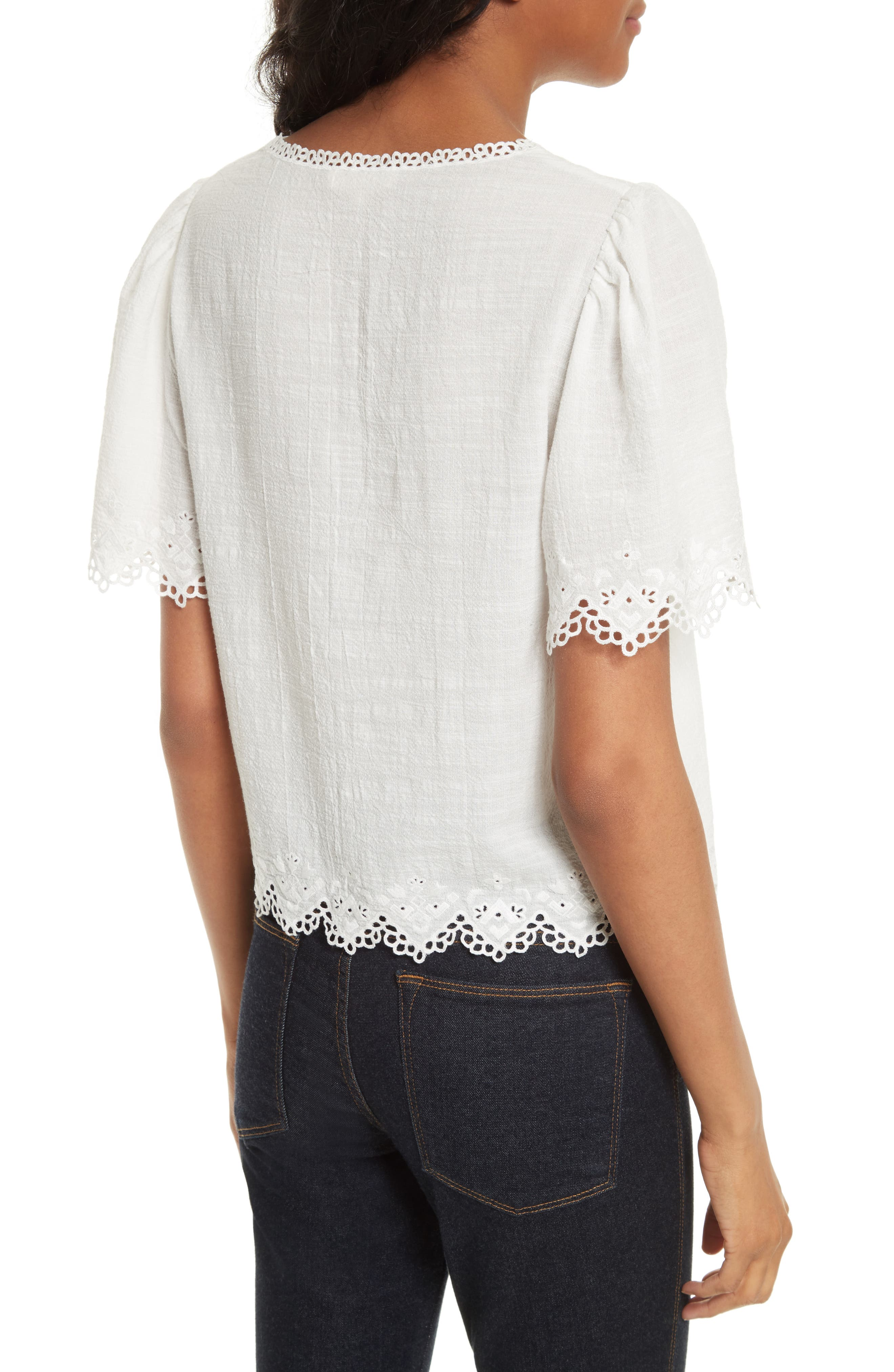 Amore Embroidered Top,                             Alternate thumbnail 2, color,                             106