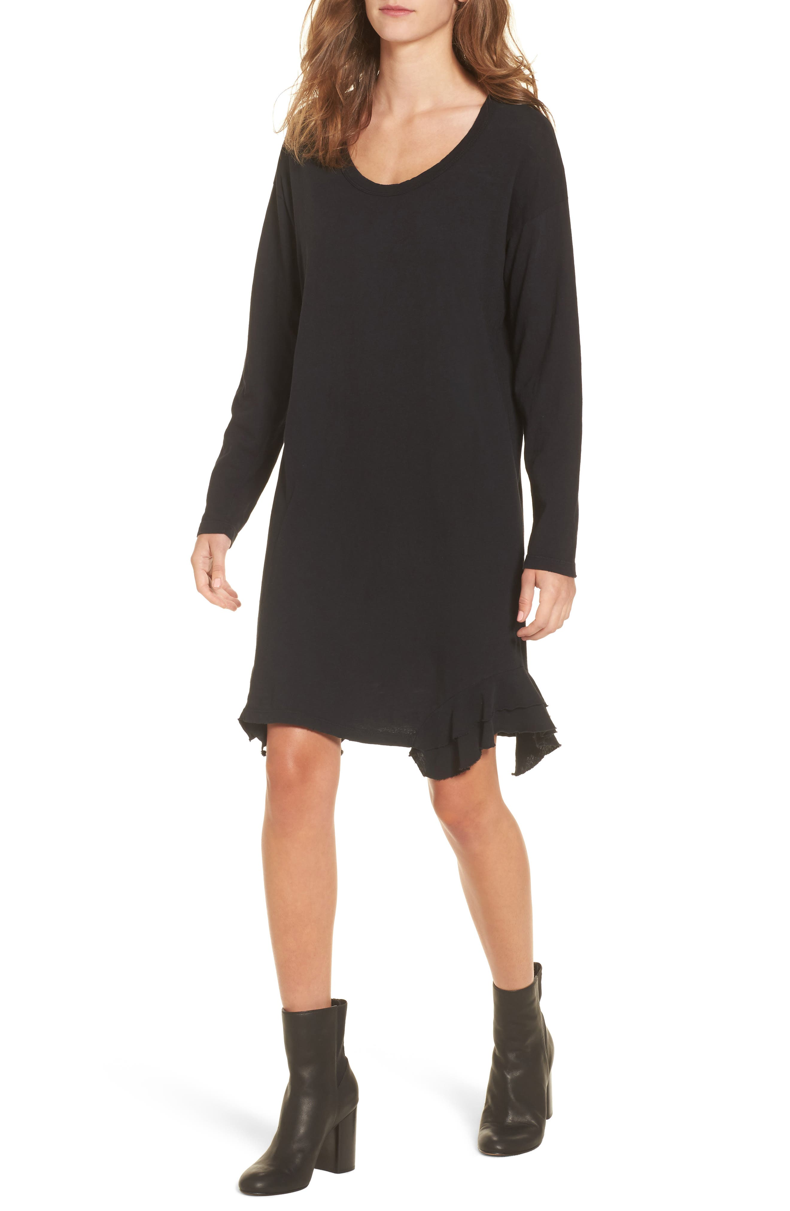 The Tier Long Sleeve Dress,                         Main,                         color, 008