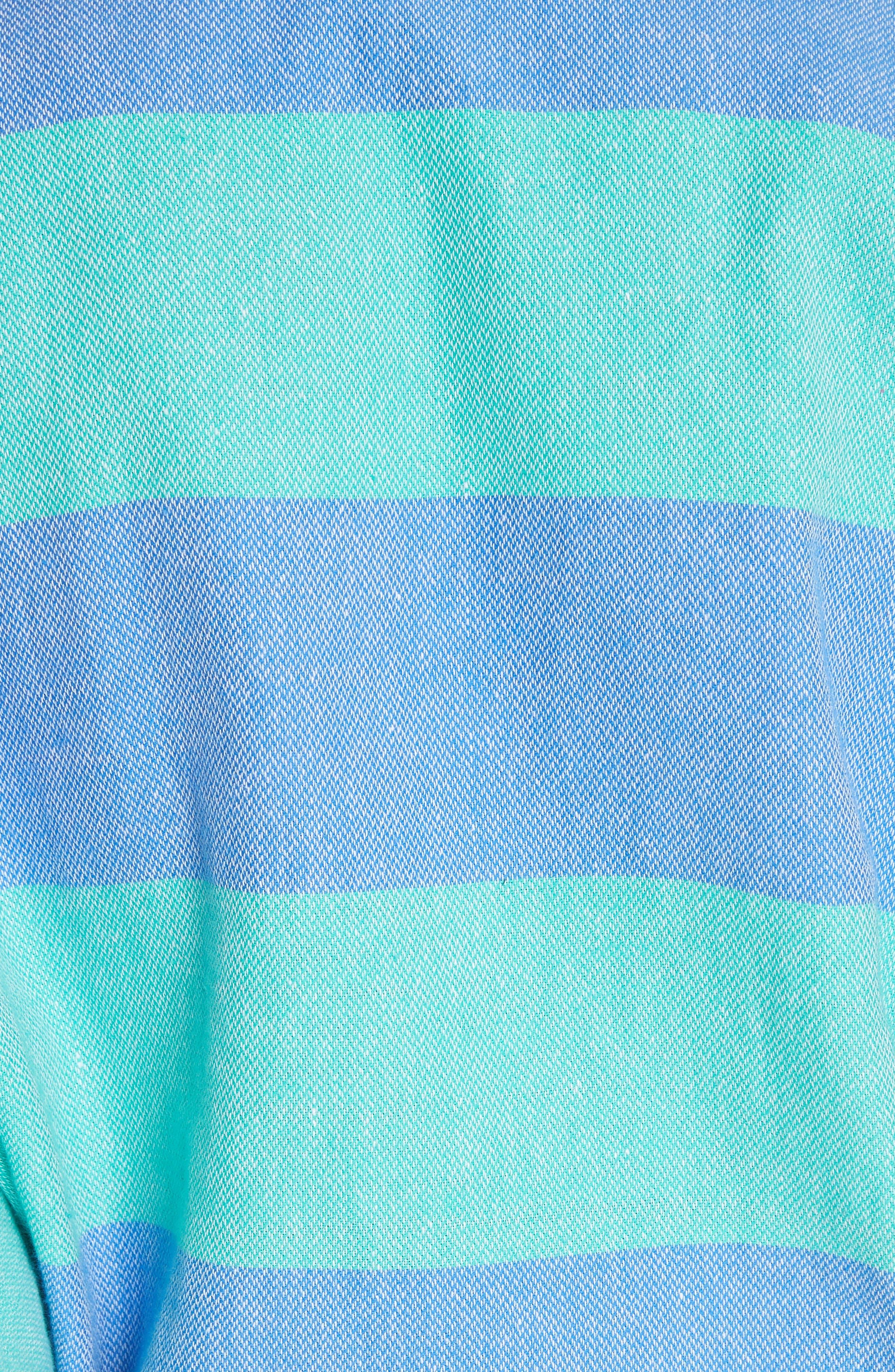 Ruby Stripe Caftan,                             Alternate thumbnail 5, color,                             440