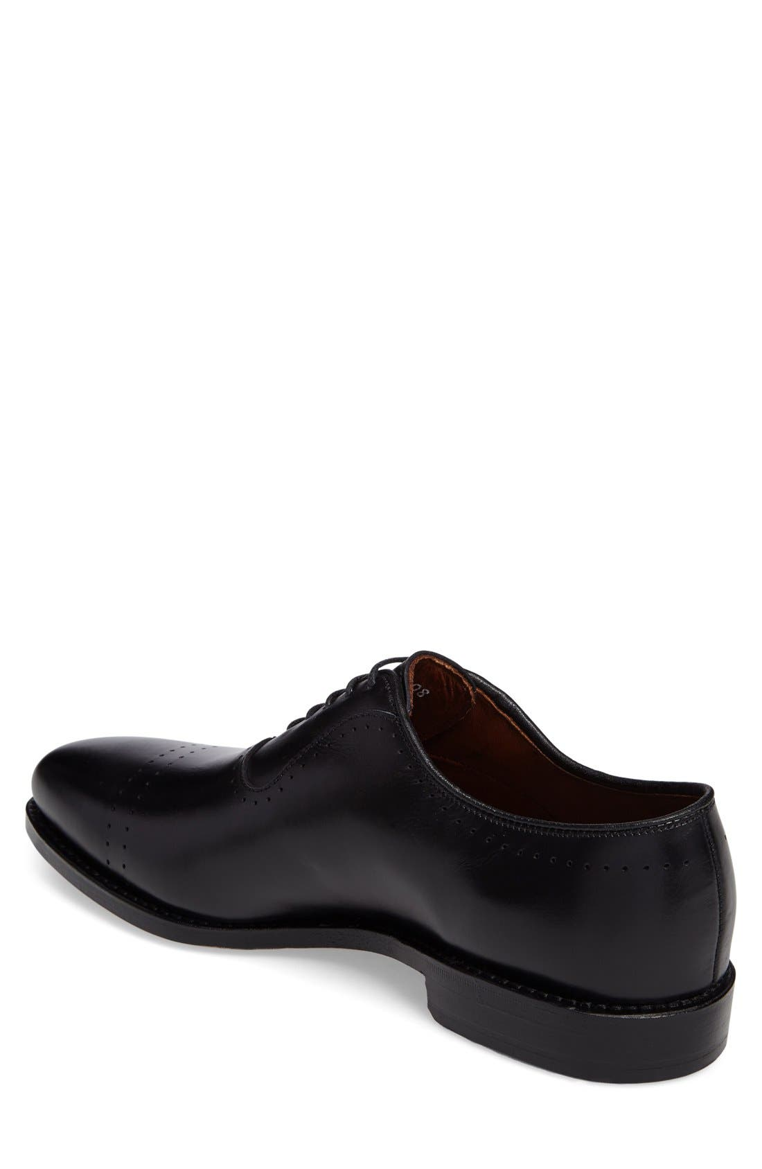 'Vernon' Oxford,                             Alternate thumbnail 3, color,                             BLACK CALF