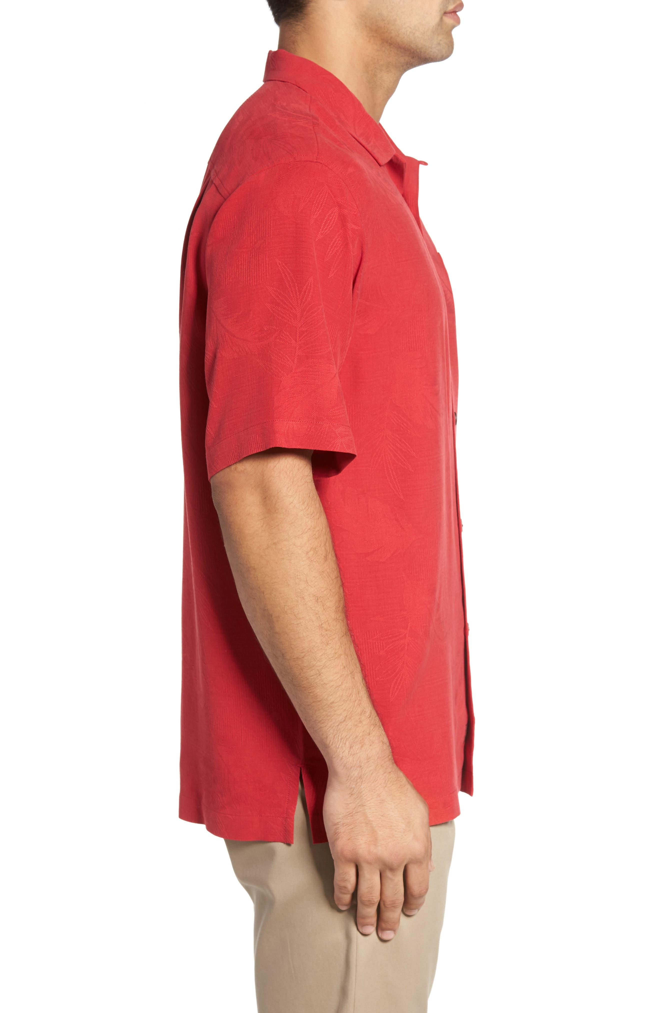 Rio Fronds Short Sleeve Silk Sport Shirt,                             Alternate thumbnail 62, color,