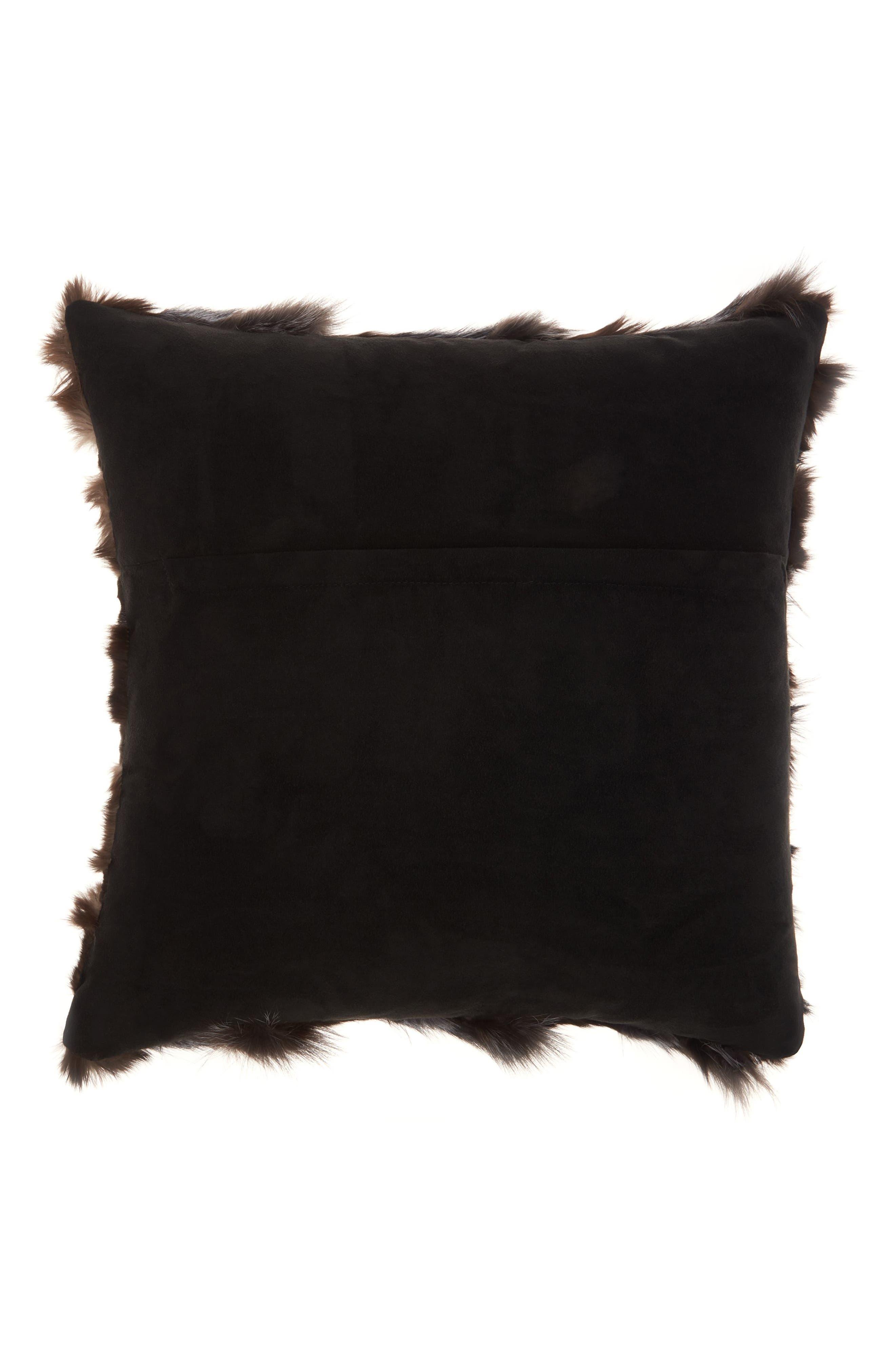 Genuine Fox Fur Pillow,                             Alternate thumbnail 2, color,                             030