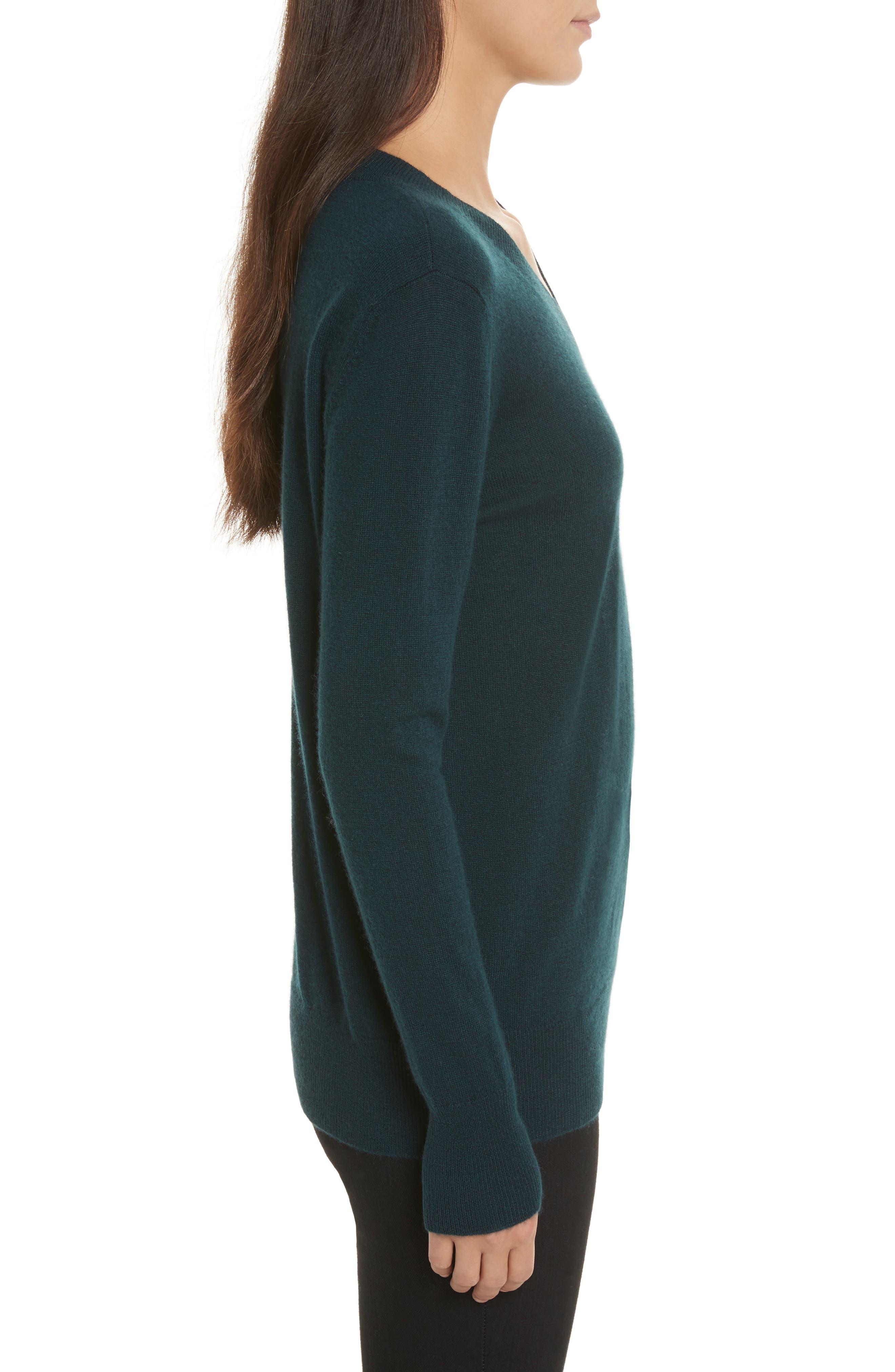 Cashmere Slash Boyfriend Sweater,                             Alternate thumbnail 3, color,                             232