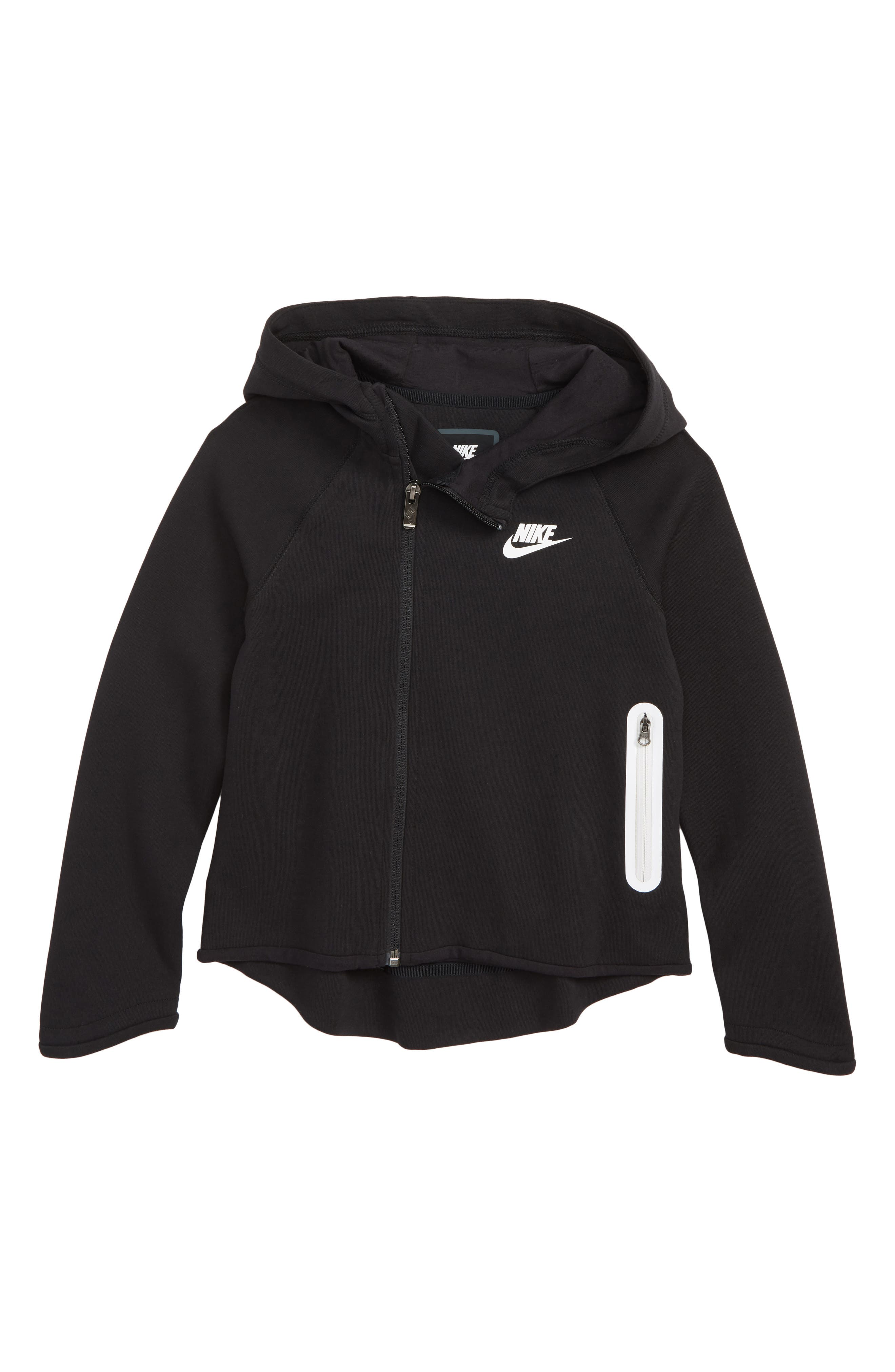 Tech Fleece Hoodie,                         Main,                         color, BLACK