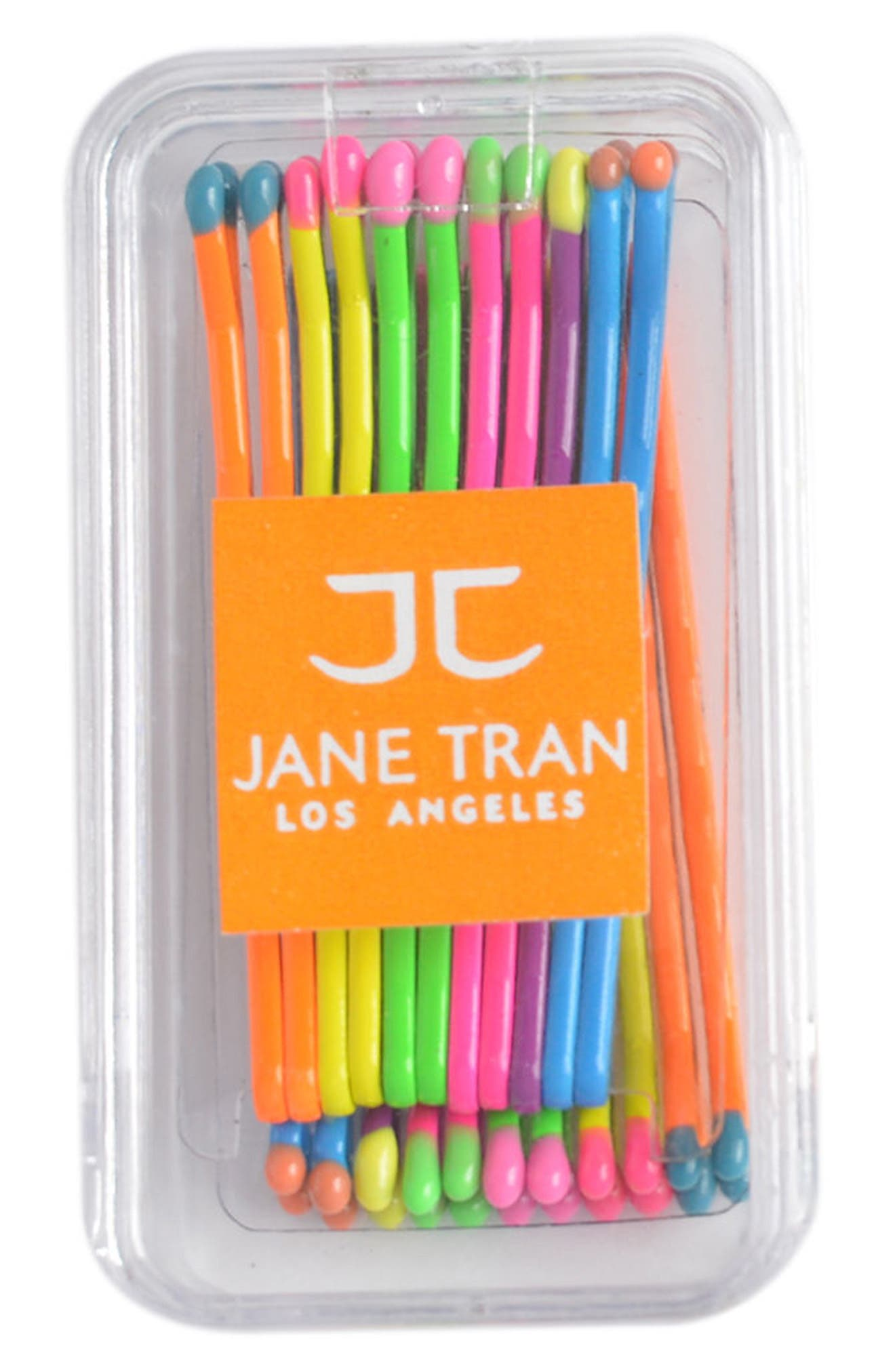 Neon Rainbow Matchsticks Set of 20 Assorted Bobby Pins,                             Alternate thumbnail 3, color,