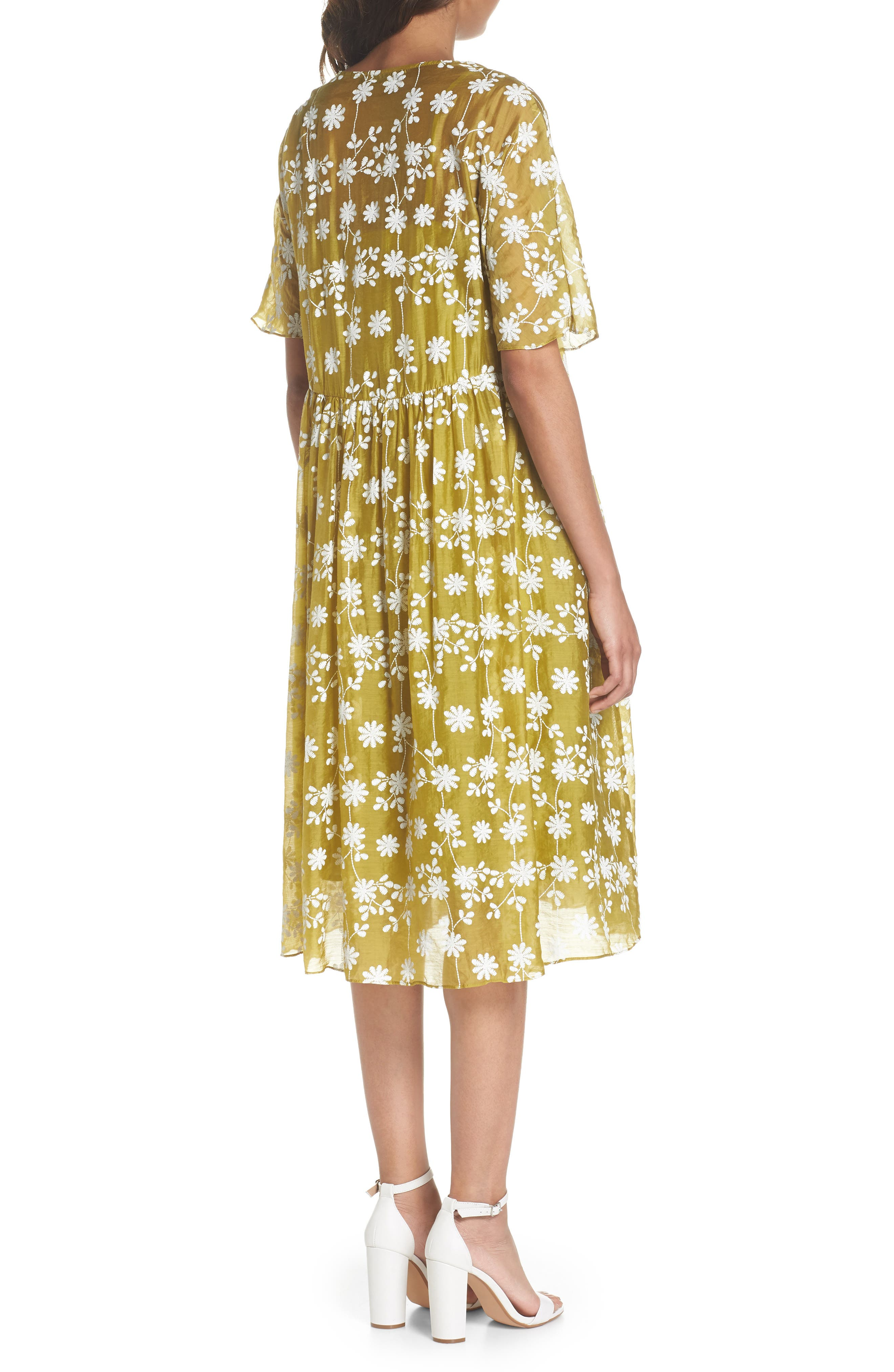 Daisy Picking Floral Dress,                             Alternate thumbnail 2, color,                             700