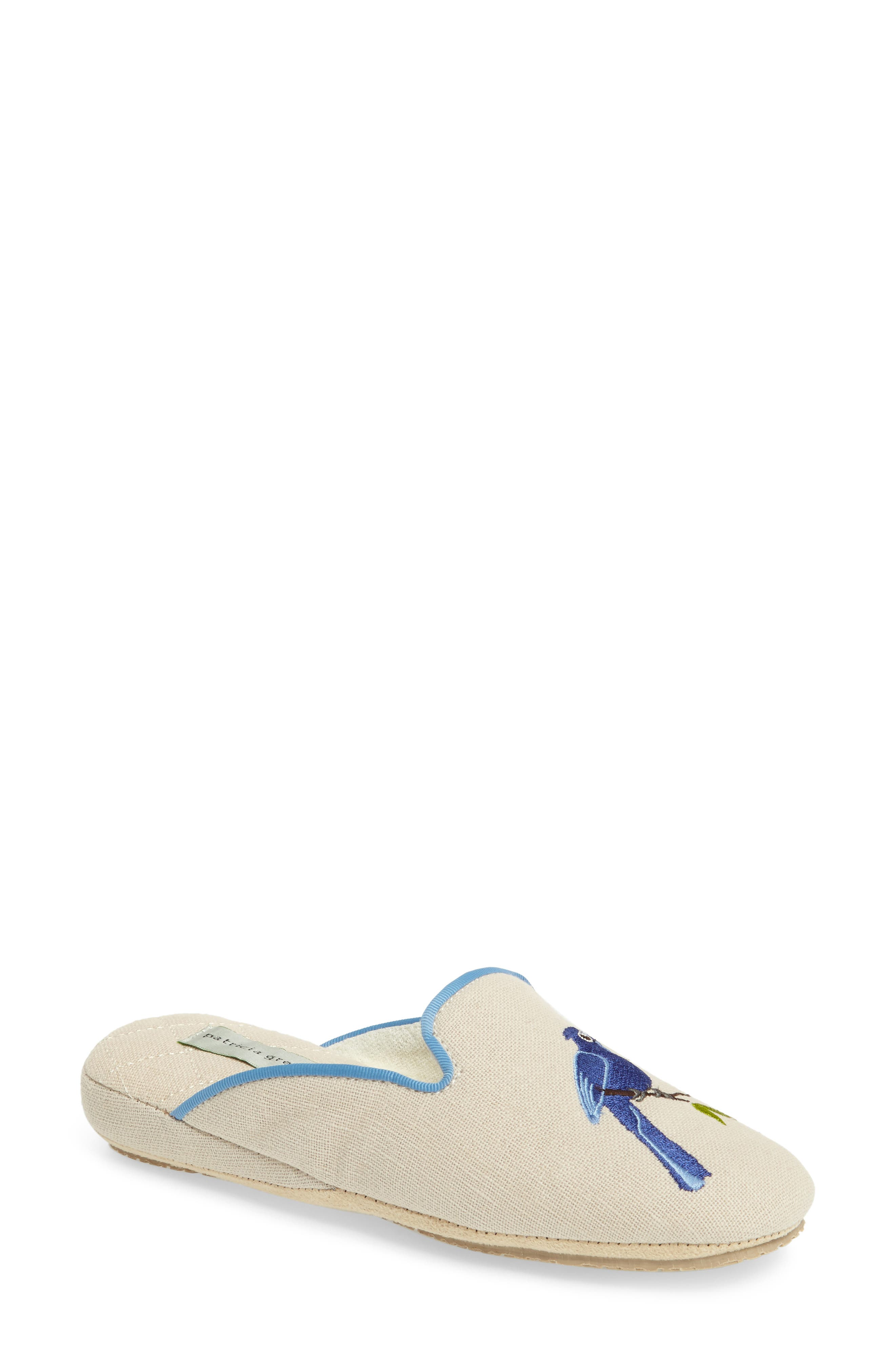Bluebird Embroidered Slipper,                             Main thumbnail 1, color,                             255