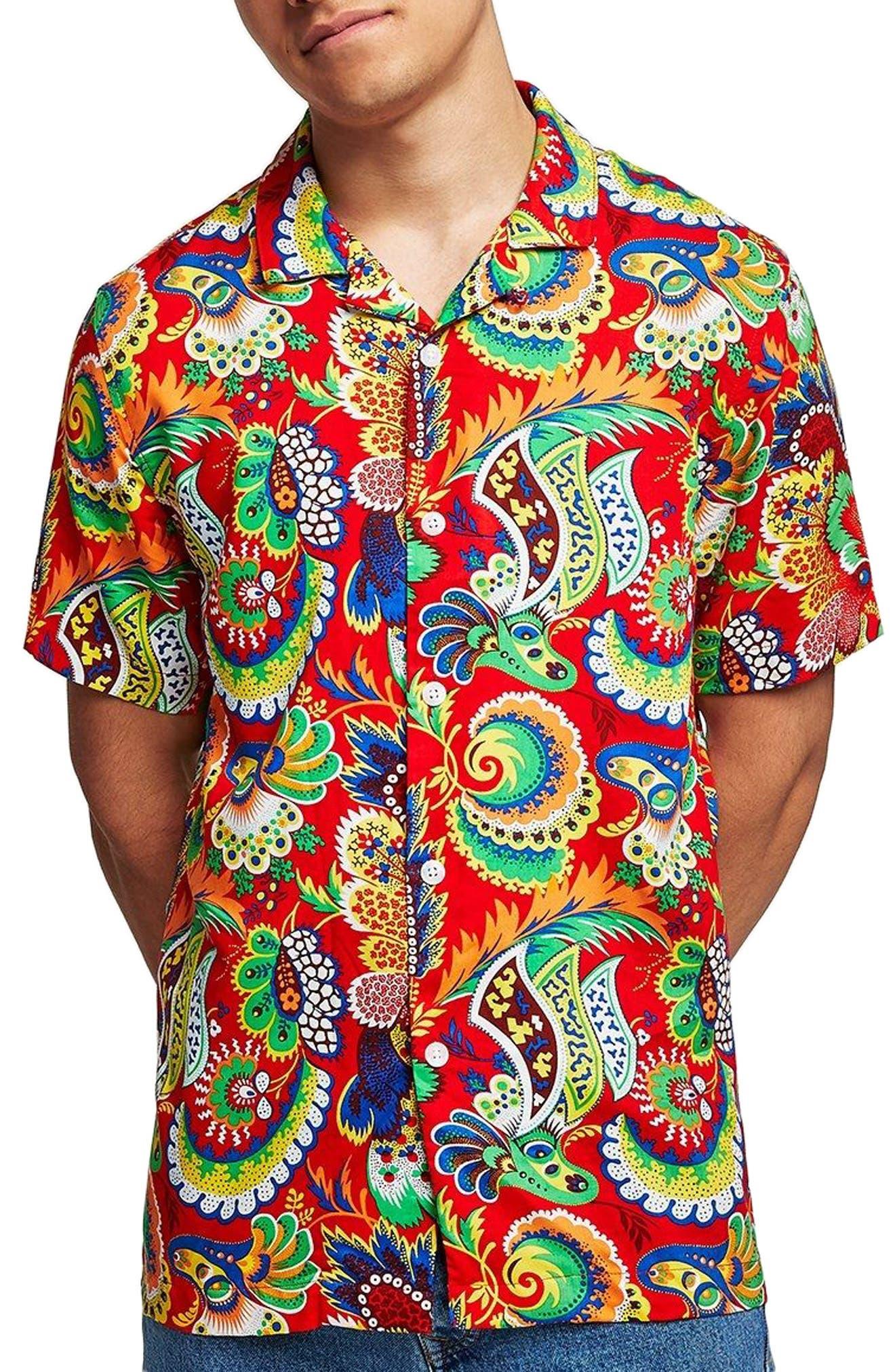 Multi Print Shirt,                         Main,                         color, 600