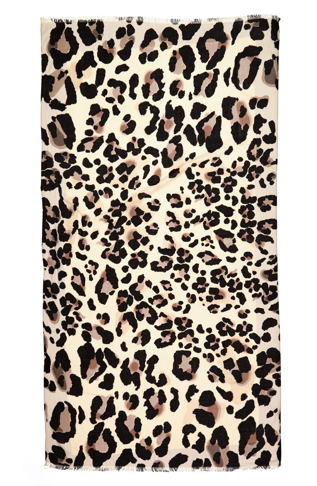 VINCE CAMUTO,                             'Cheetah Calling' Wrap,                             Alternate thumbnail 2, color,                             001