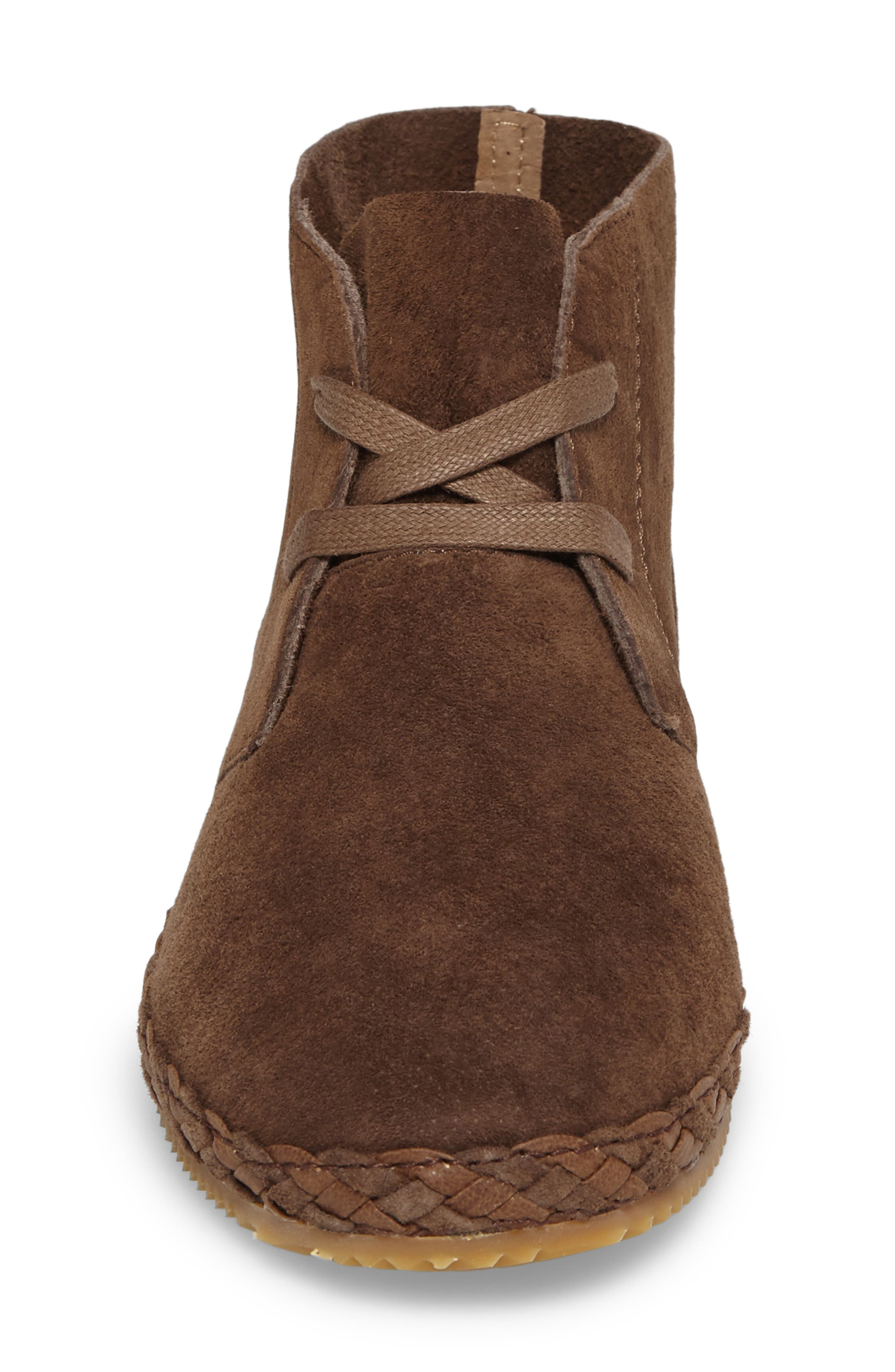 Addison Bootie,                             Alternate thumbnail 4, color,                             BROWN SUEDE