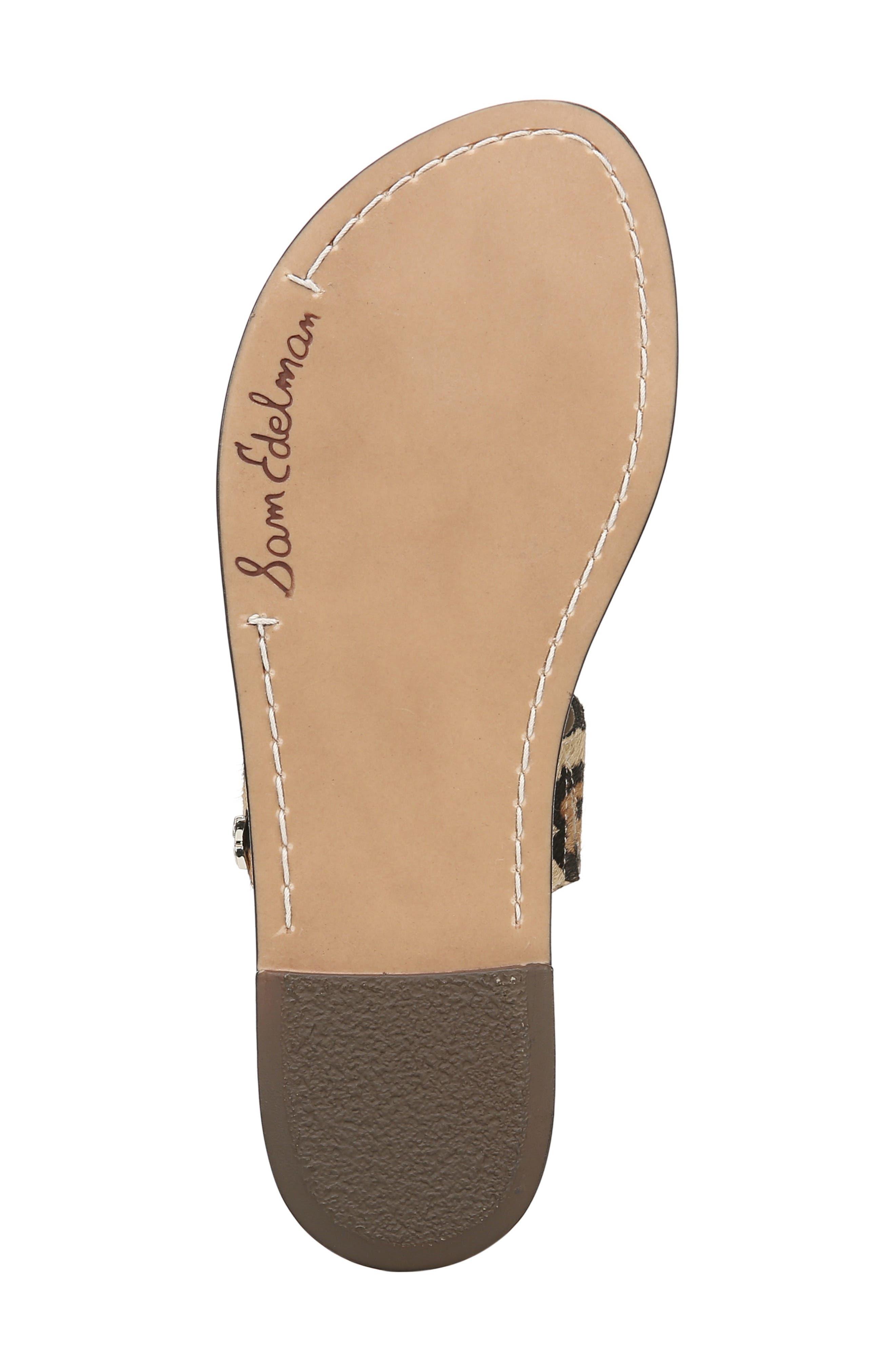 SAM EDELMAN,                             Gala Two Strap Genuine Calf Hair Slide Sandal,                             Alternate thumbnail 6, color,                             LEOPARD CALF HAIR