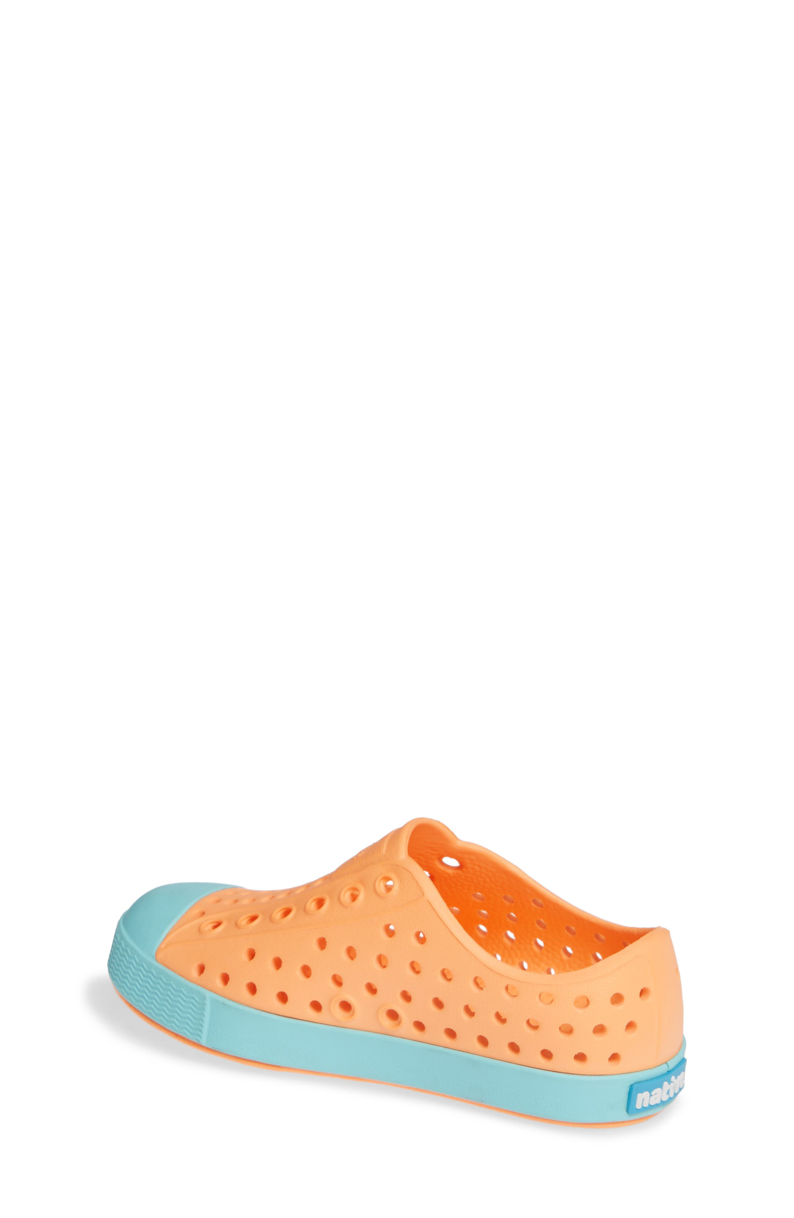 'Jefferson' Water Friendly Slip-On Sneaker,                             Alternate thumbnail 2, color,                             LASER ORANGE/ SHERBET BLUE