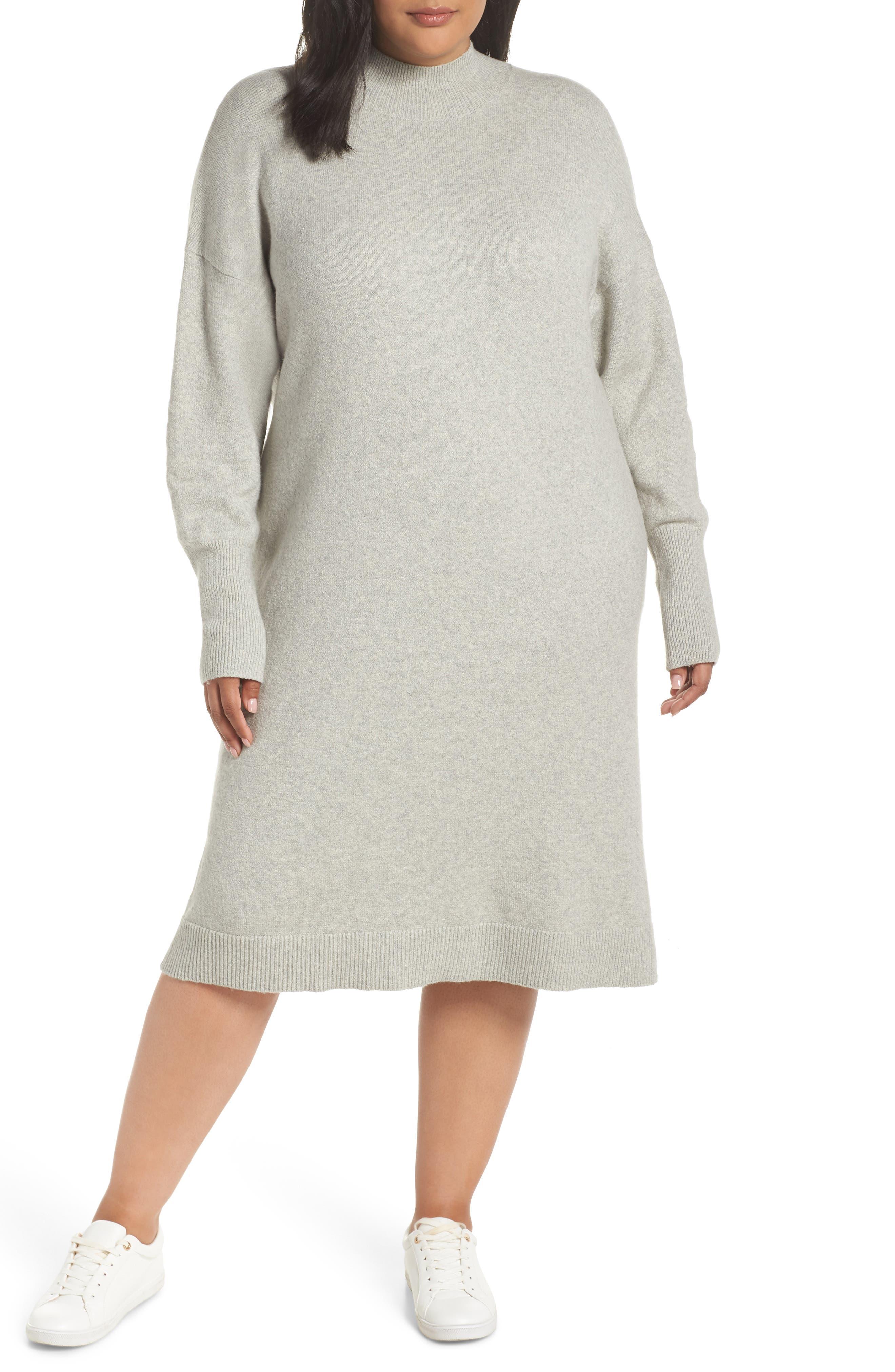 BP.,                             Mock Neck Sweater Dress,                             Main thumbnail 1, color,                             021