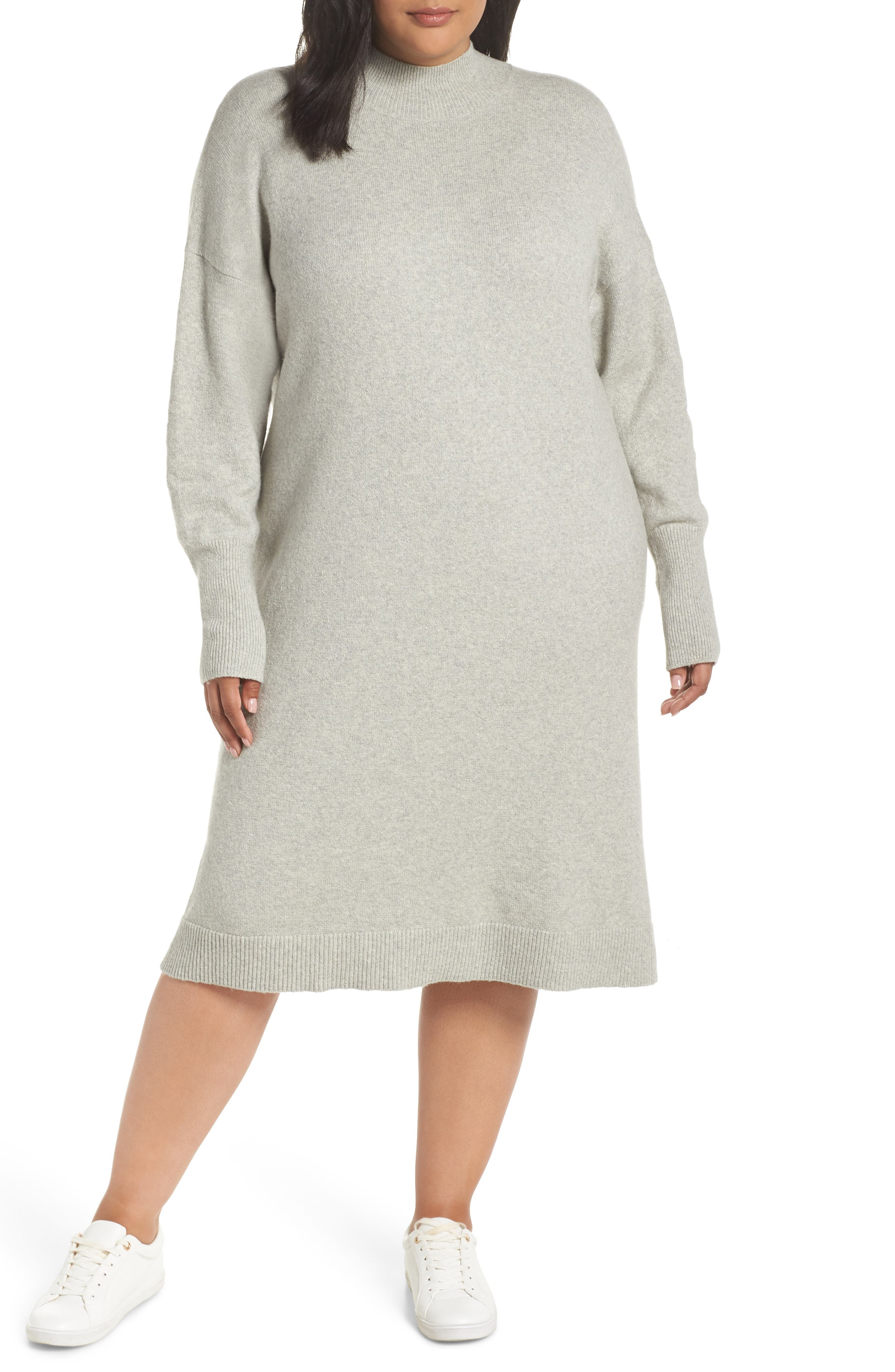 BP. Mock Neck Sweater Dress, Main, color, 021