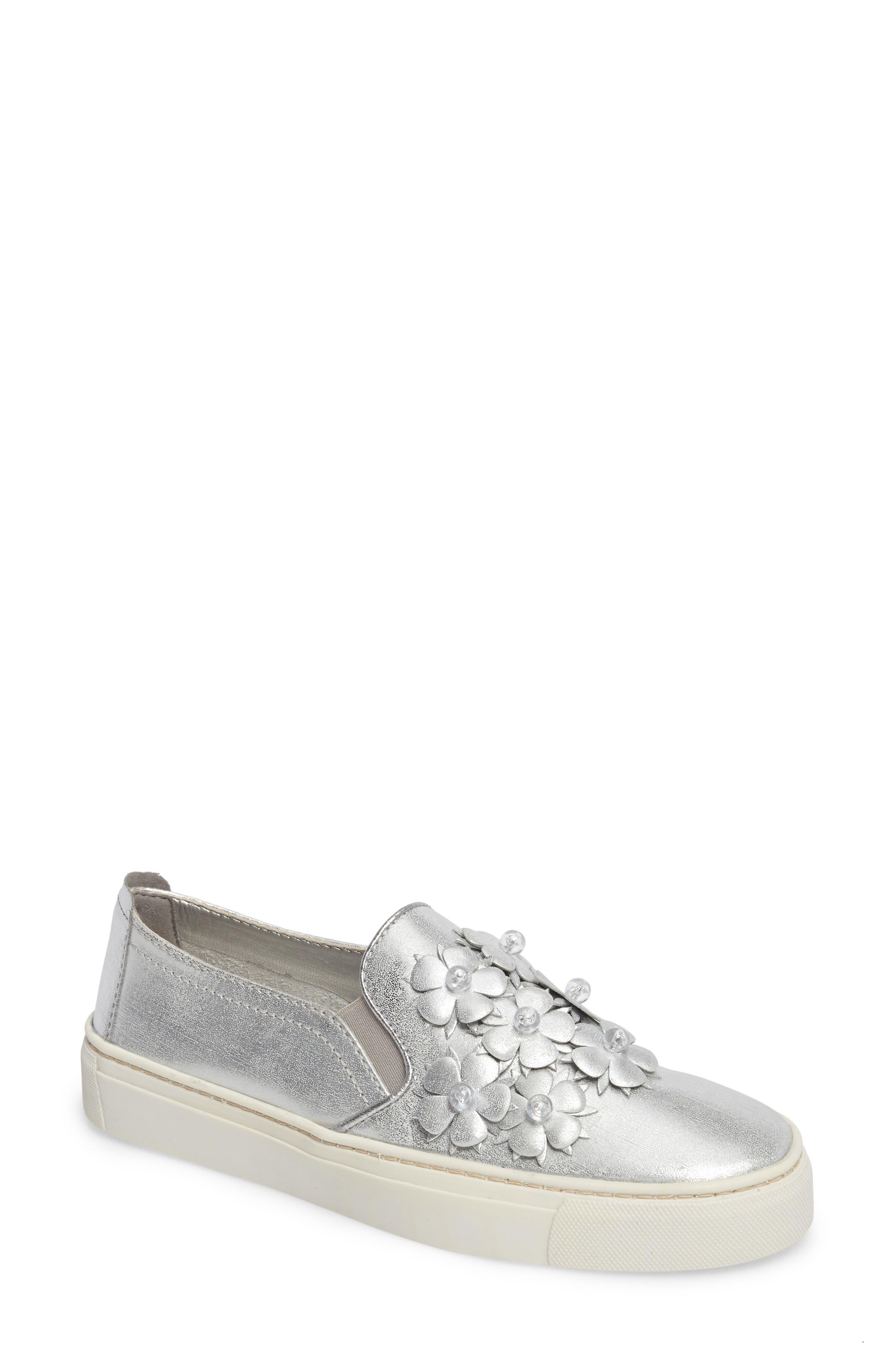 Sneak Blossom Slip-On Sneaker,                             Main thumbnail 1, color,                             020