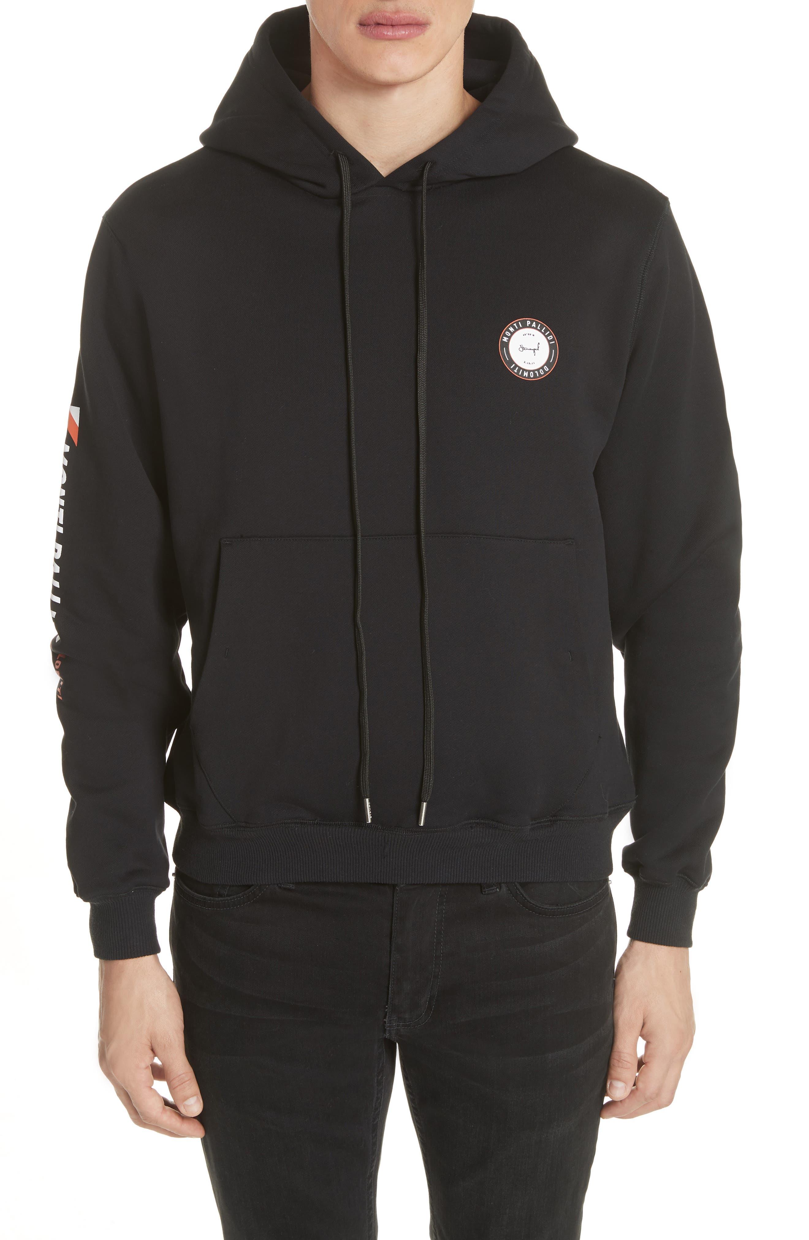 Monti Pallidi Graphic Hoodie,                         Main,                         color, BLACK