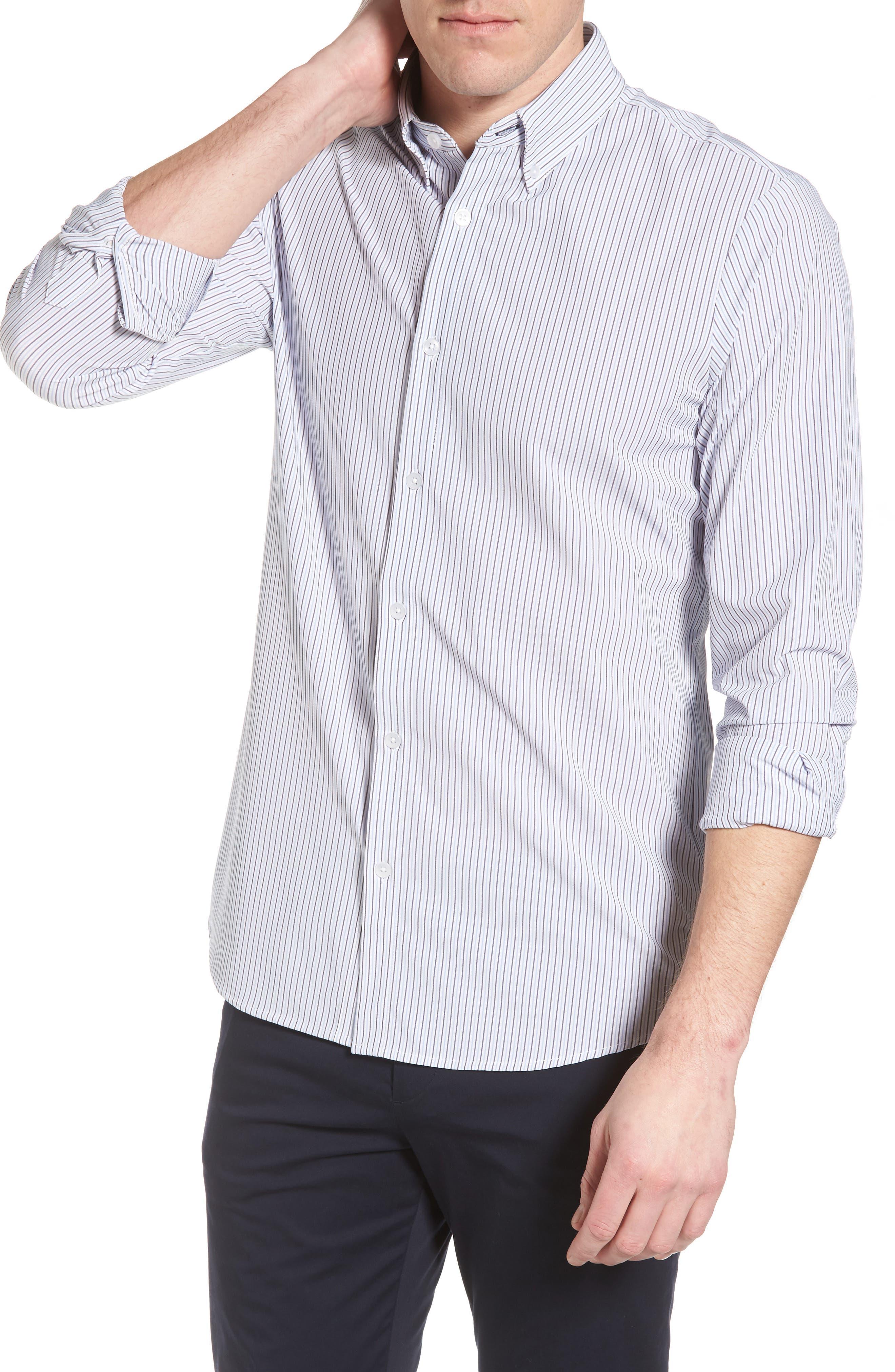 Callahan Stripe Sport Shirt,                             Alternate thumbnail 4, color,                             477