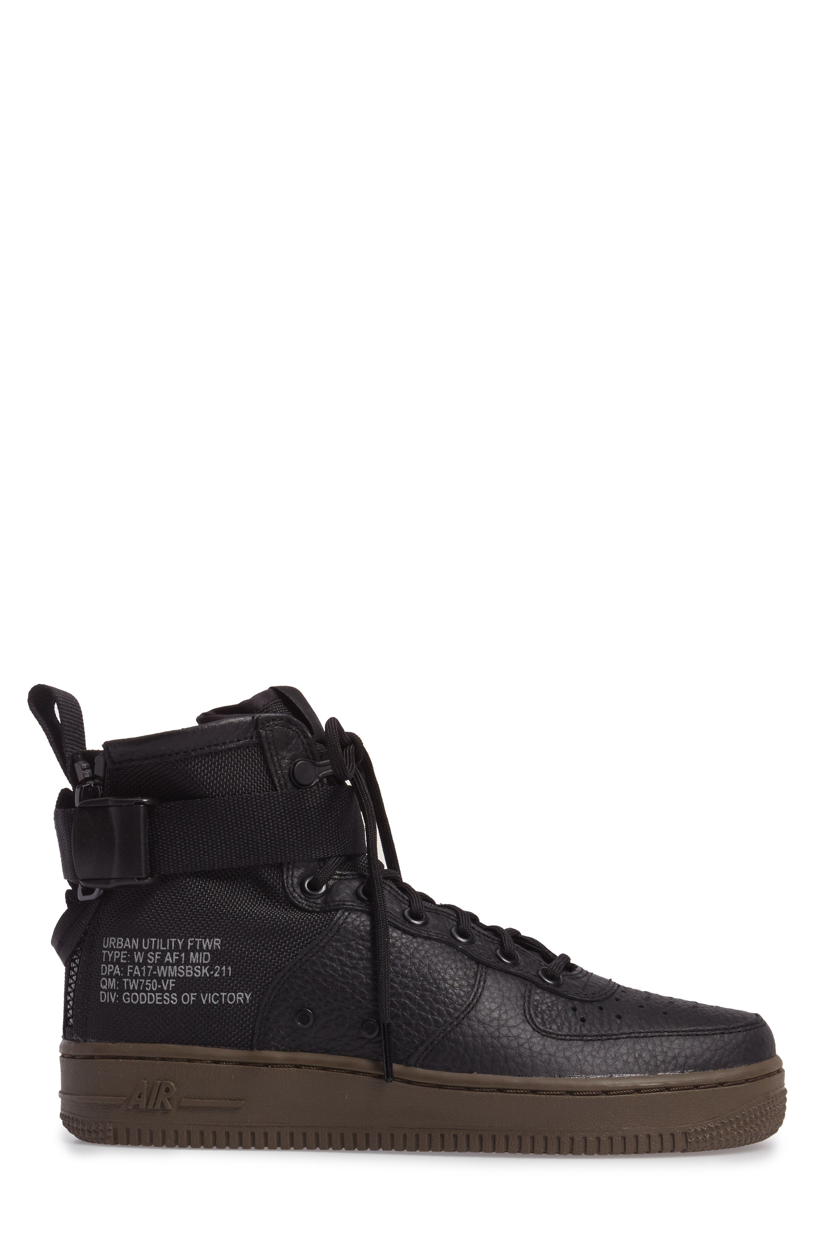 SF Air Force 1 Mid Sneaker,                             Alternate thumbnail 3, color,                             003