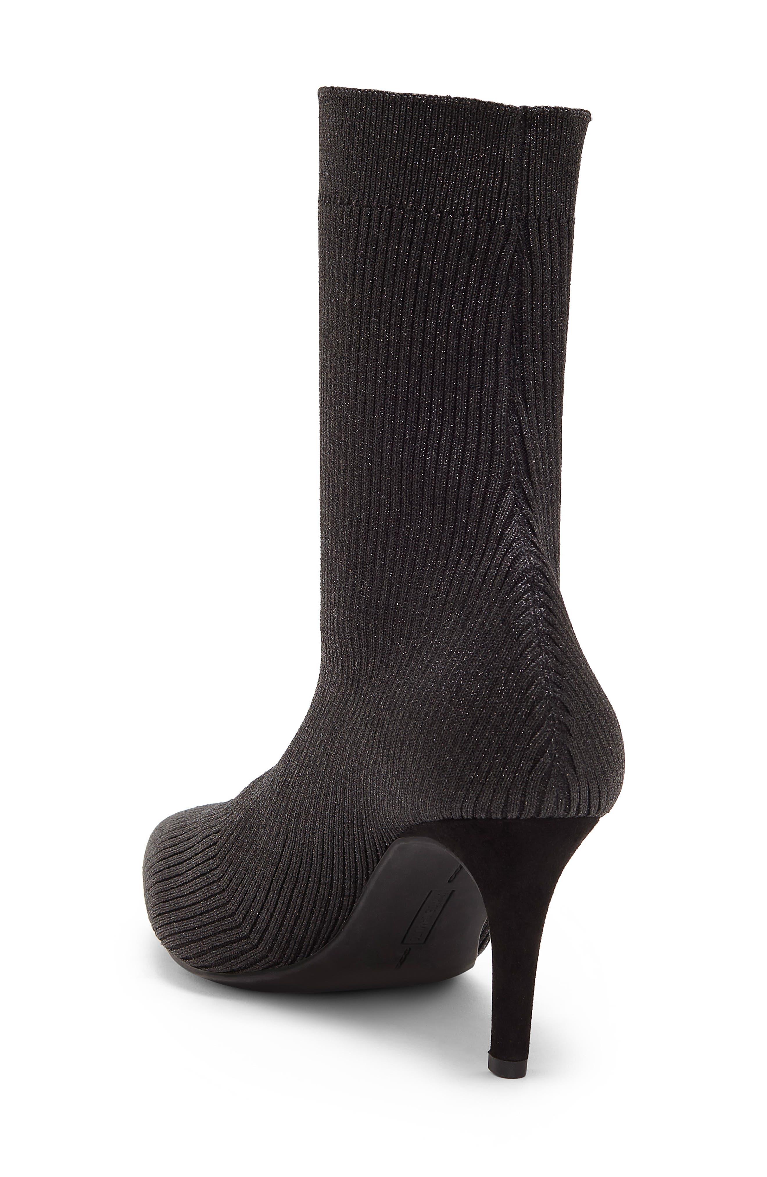 Roreeta Sock Boot,                             Alternate thumbnail 2, color,                             BLACK FABRIC