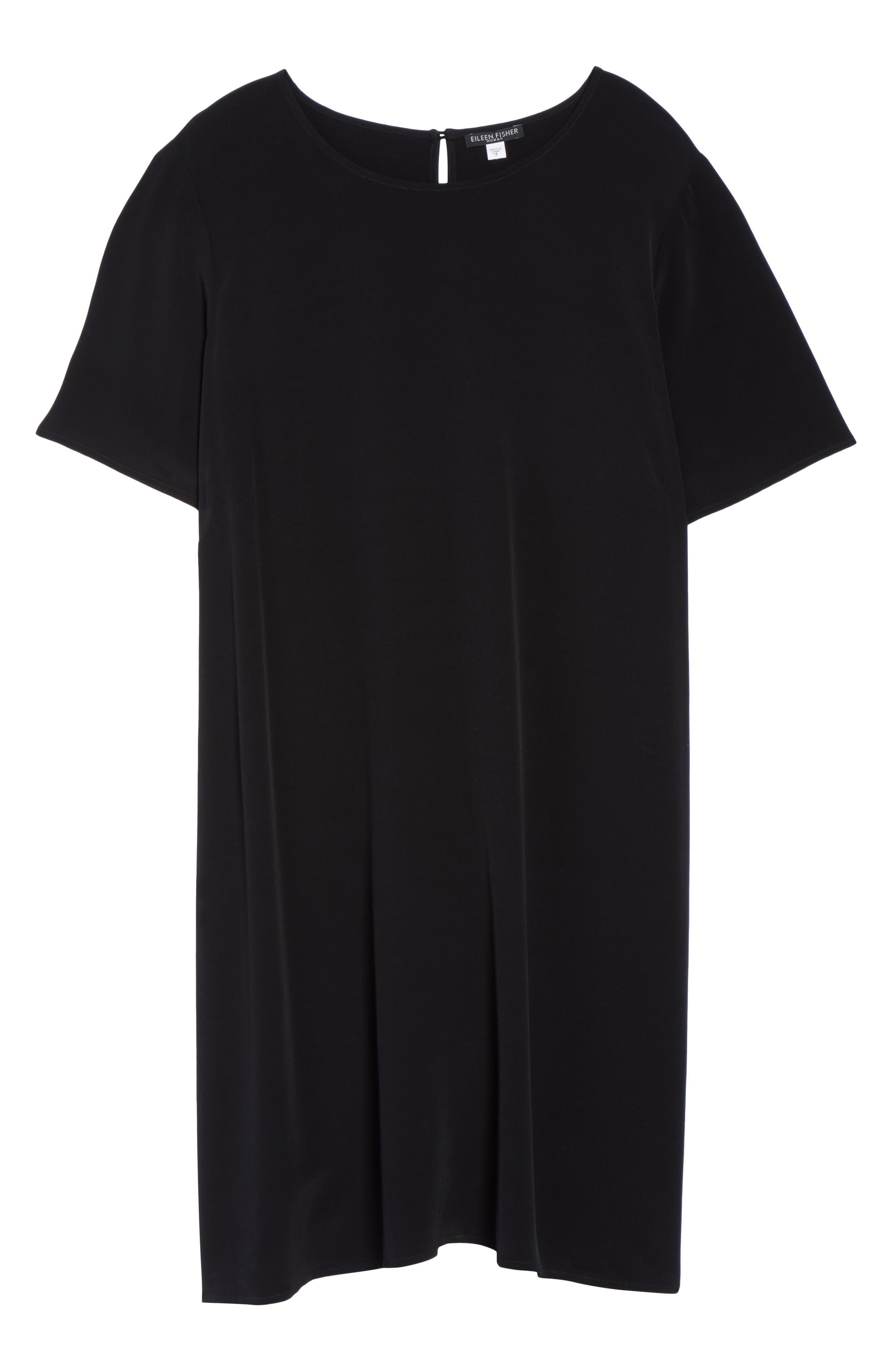 Tencel<sup>®</sup> Blend Jersey Shift Dress,                             Alternate thumbnail 6, color,                             001