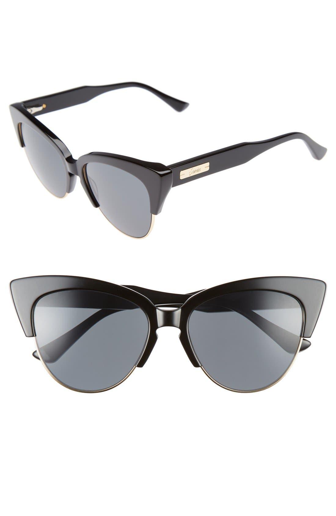 Dafni 56mm Gradient Cat Eye Sunglasses,                             Main thumbnail 1, color,