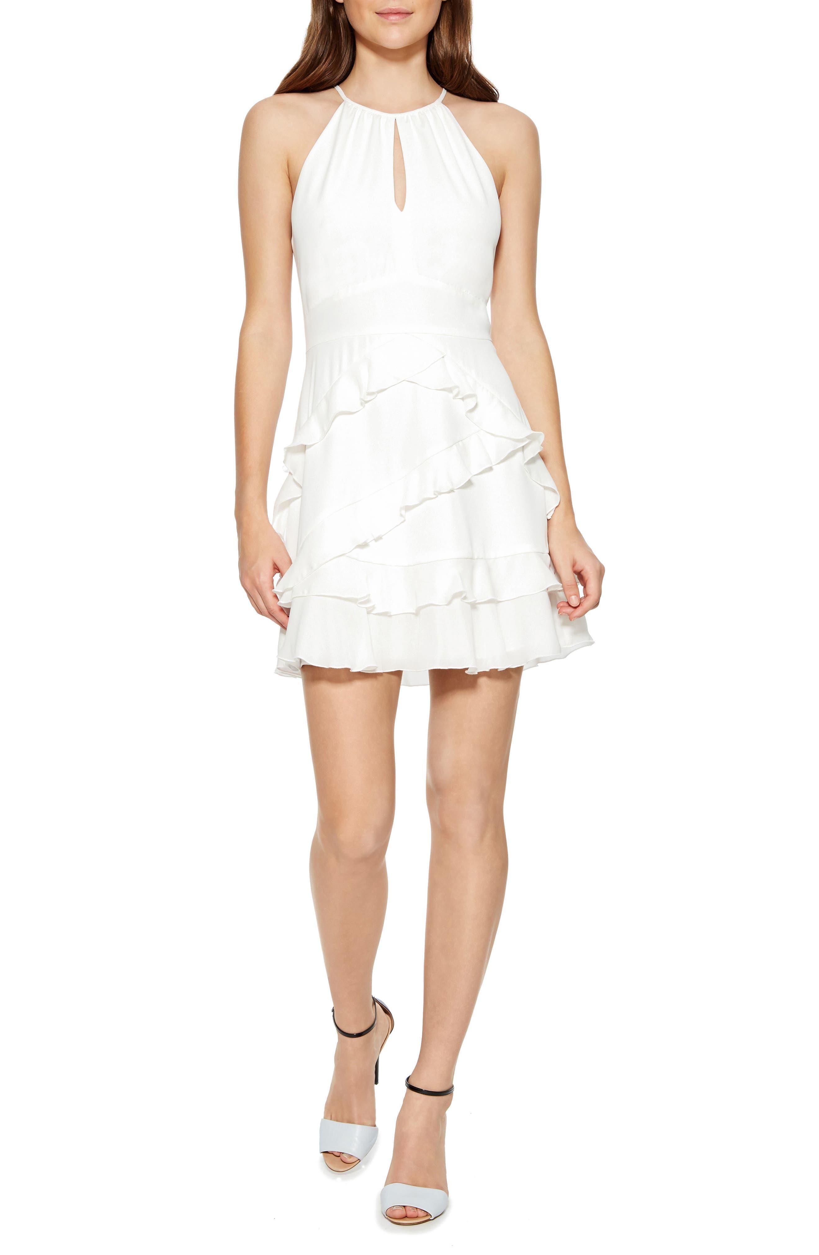 Phoenix Combo Dress,                             Main thumbnail 1, color,                             PEARL