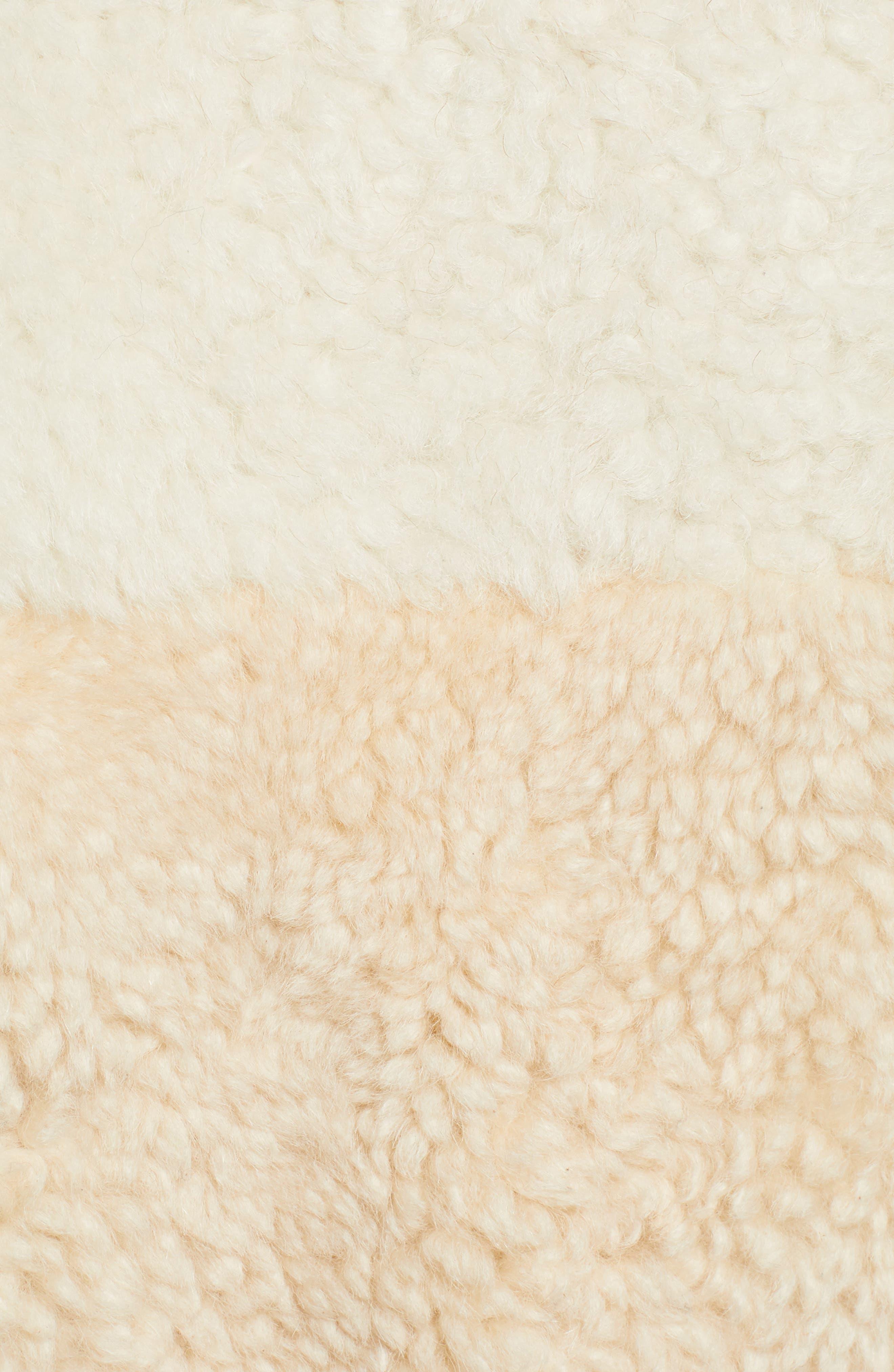 Patchwork Genuine Shearling Jacket,                             Alternate thumbnail 7, color,                             CREAM