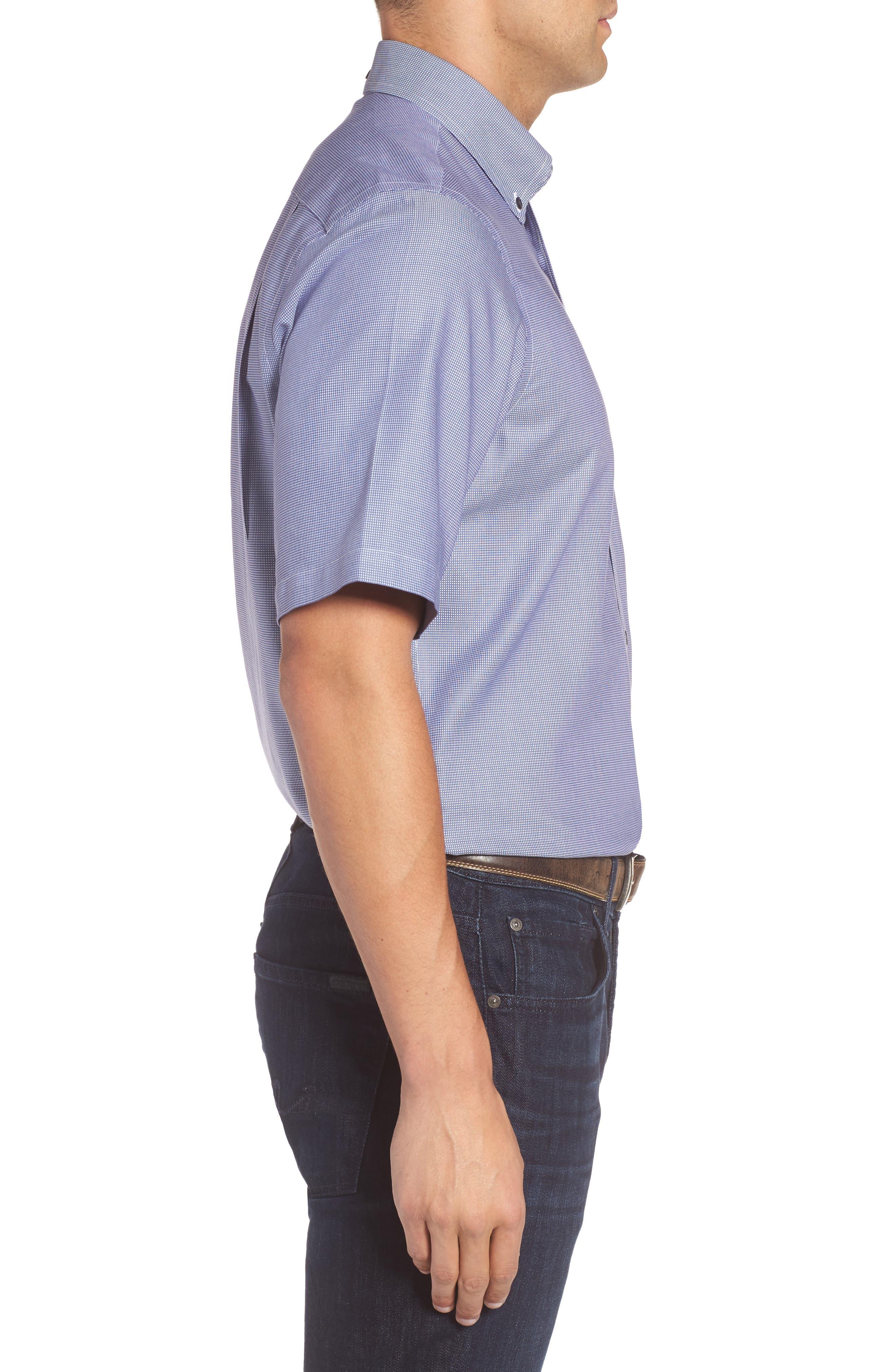 'Classic' Smartcare<sup>™</sup> Regular Fit Short Sleeve Cotton Sport Shirt,                             Alternate thumbnail 71, color,