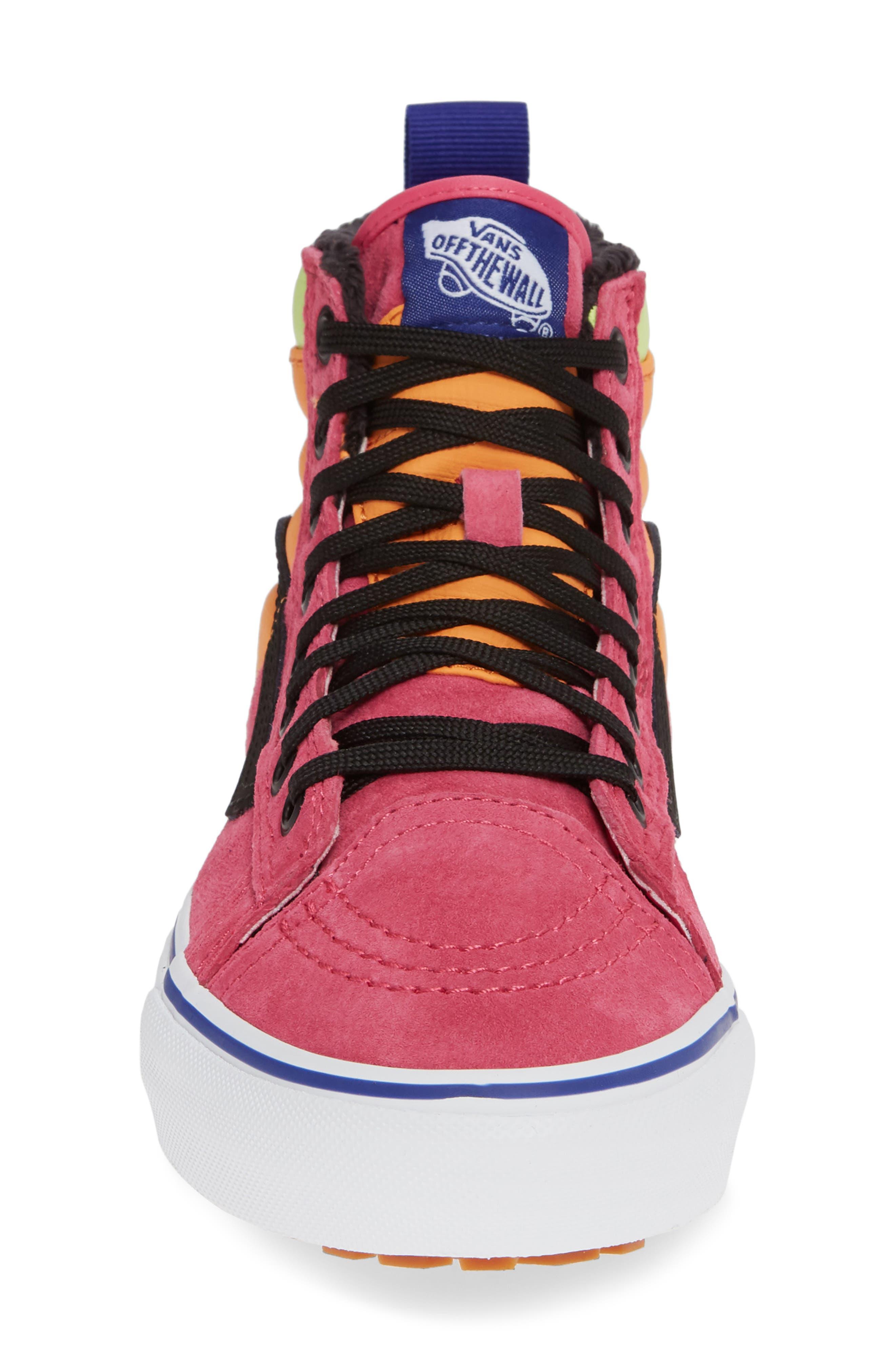 VANS,                             Sk8-Hi 46 MTE DX Sneaker,                             Alternate thumbnail 4, color,                             PINK YARROW/ TANGERINE/ BLACK