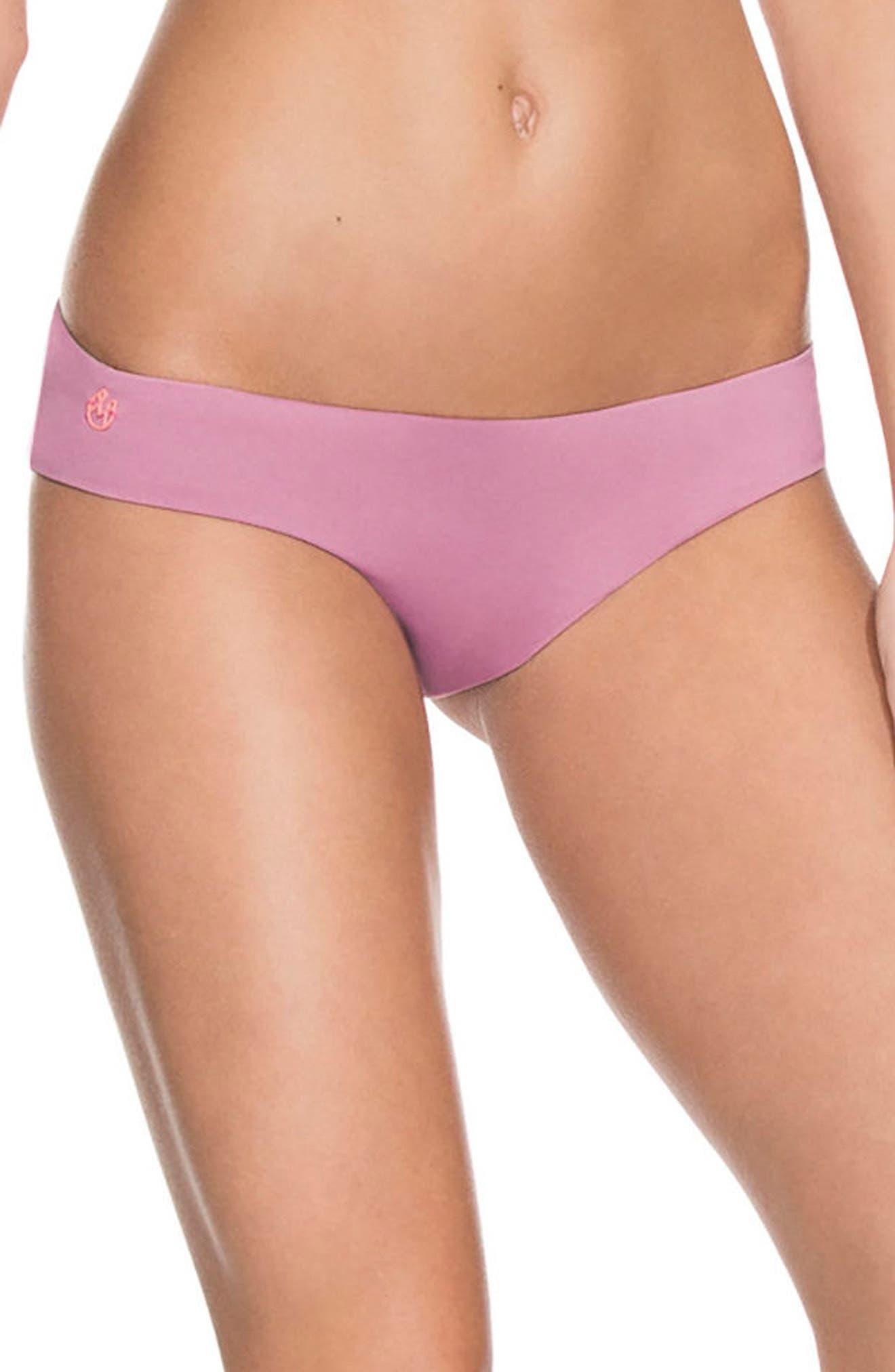 Mauve Sublime Signature Reversible Bikini Bottoms,                             Main thumbnail 1, color,                             655