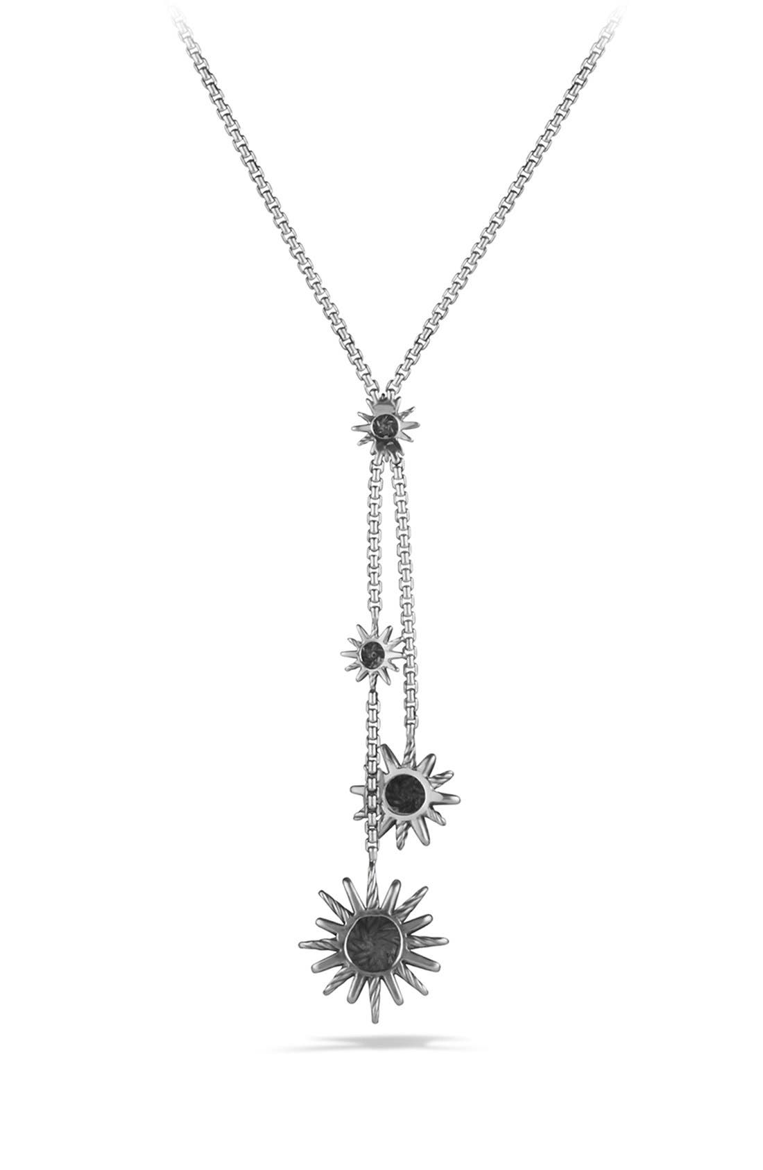 'Starburst' Y Necklace with Diamonds,                             Alternate thumbnail 3, color,                             DIAMOND
