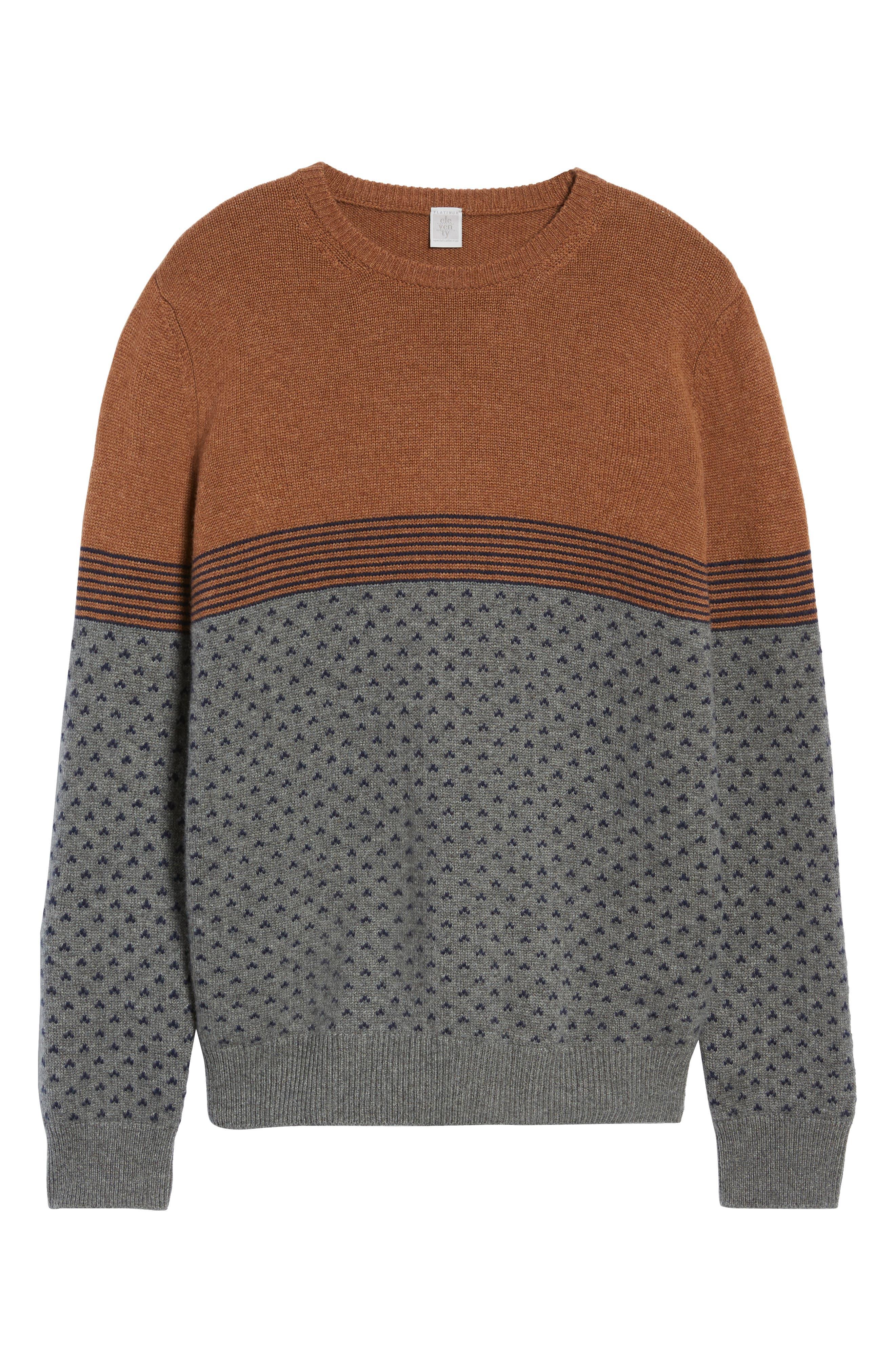 Trim Fit Cashmere Sweater,                             Alternate thumbnail 6, color,                             GREY