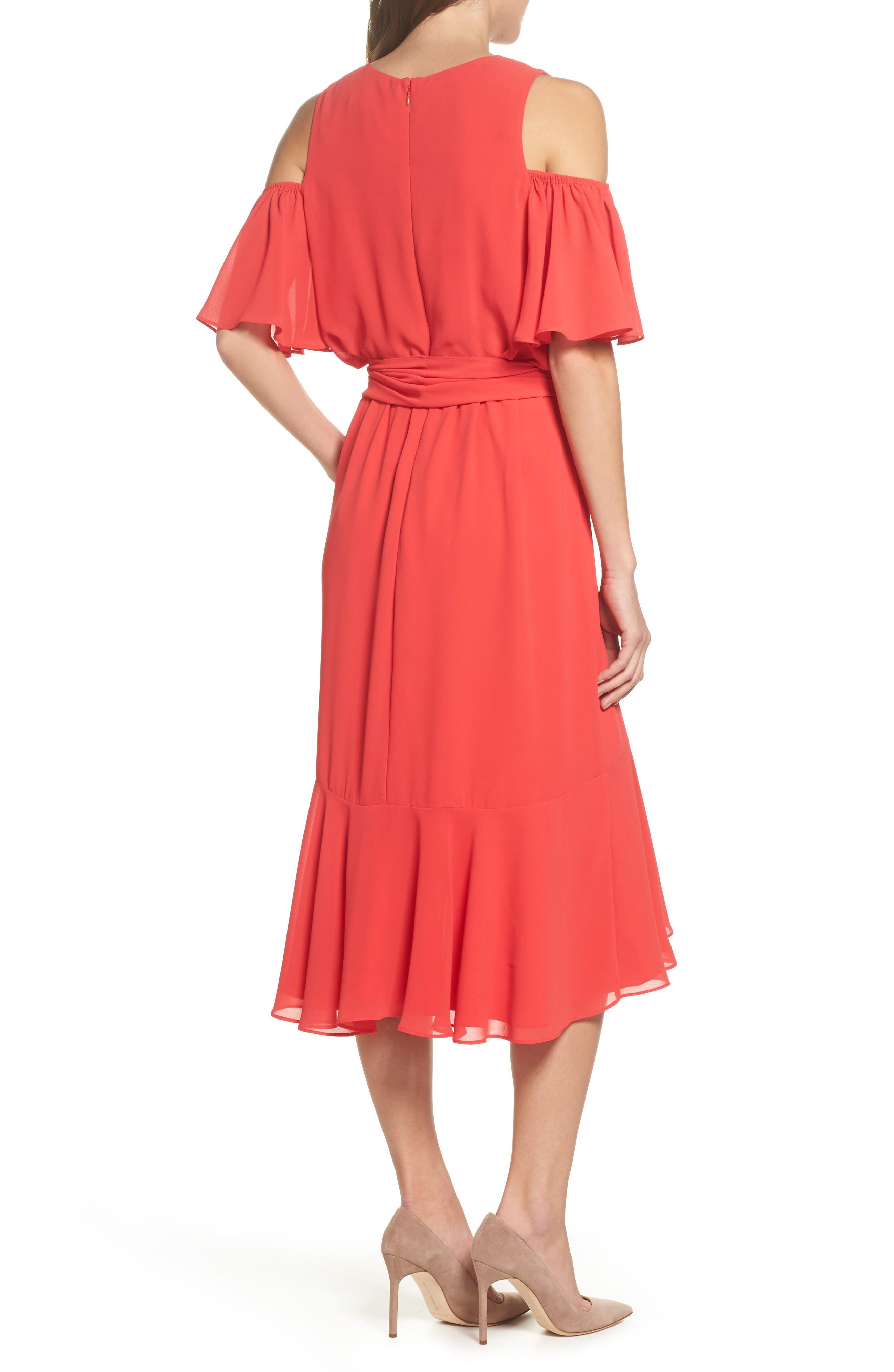 Cold Shoulder Dress,                             Alternate thumbnail 2, color,                             652
