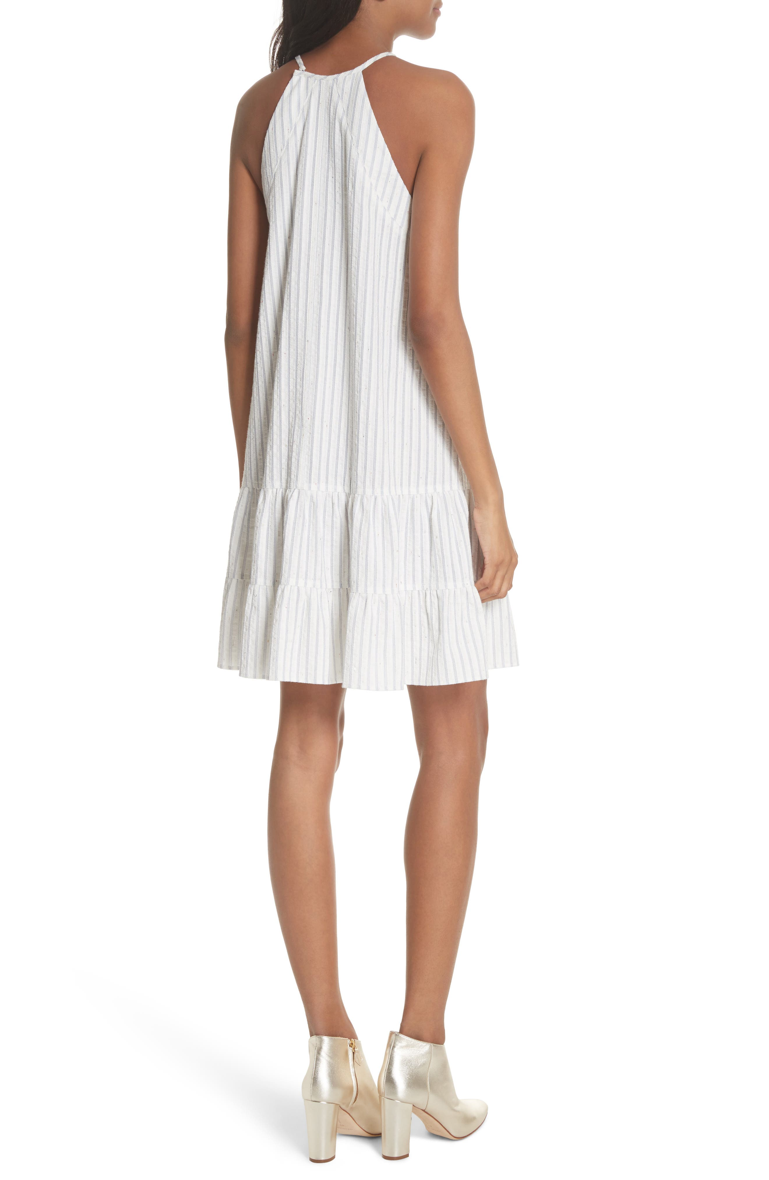Sleeveless Stripe Tank Dress,                             Alternate thumbnail 2, color,                             421
